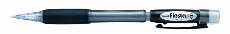 Карандаш авт. FIESTA II черный корпус 0.5 мм в блистере72523WDКарандаш автоматический Fiesta II с мягкой зоной захвата.Диаметр грифеля - 0.5 мм.Удобные для продолжительной работы карандаши.с мягкой зоной захвата.; резиновый упор ;