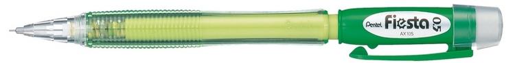 Карандаш авт. FIESTA зеленый корпус 0.5 мм в блистереPAX105-DДиаметр грифеля 0.5 мм.Надежные карандаши с яркими цветами корпуса и мягким качественным ластиком под прозрачным колпачком.яркий цвет корпуса; мягкий качественный ластик под прозрачным колпачком.;