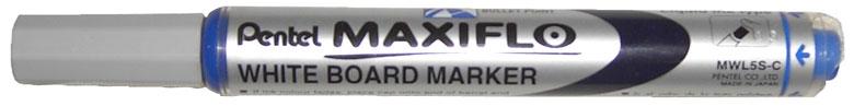 Маркер для досок синий 4.0 мм,с жидкими чернилами и кнопкой подкачки чернил MAXIFLOPMWL5S-CМаркер для белой доски с жидкими чернилами и кнопкой подкачки чернил. Длительность письма в 4 раза превышает обычные маркеры. Пулеобразный наконечник.Диаметр стержня: 4 мм.Длительность письма в 4 раза превышает обычные маркеры.; Пулеобразный наконечник.;