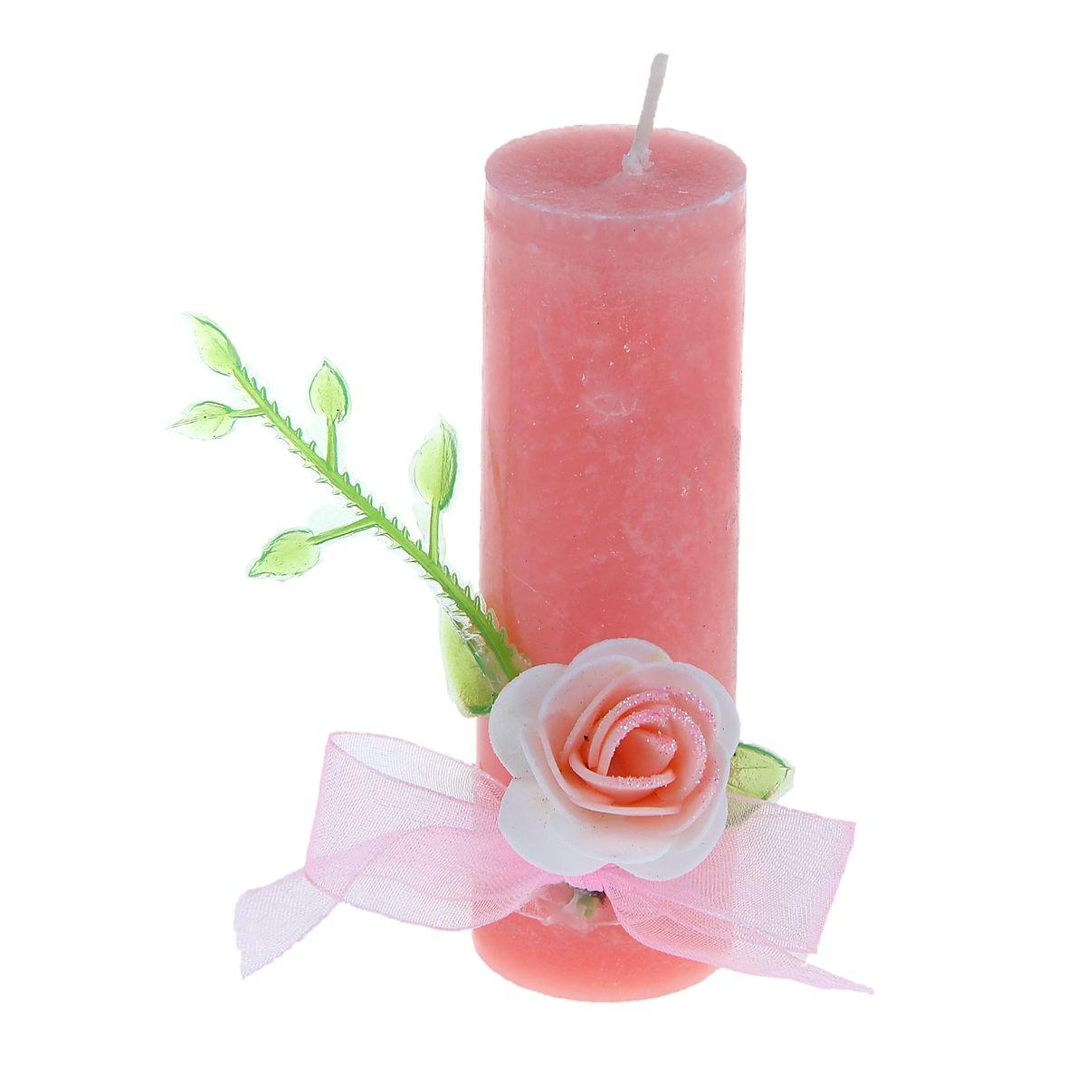 Свеча Sima-land Цветок, цвет: розовый, высота 10,5 см74-0120Свеча Sima-land Цветок выполнена из воска в виде столбика и оформлена цветочным декором. Изделие порадует ярким дизайном и оригинальностью. Создайте для себя и своих близких незабываемую атмосферу праздника в доме. Свеча Sima-land Цветок может стать не только отличным подарком, но и гарантией хорошего настроения, ведь это красивая вещь из качественного, безопасного для здоровья материала.