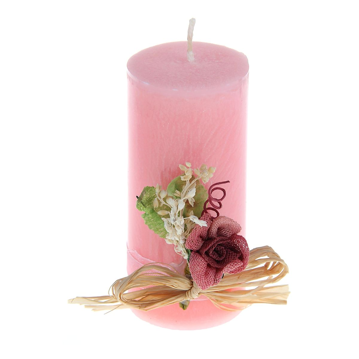 Свеча декоративная Sima-land Цветок, цвет: розовый, высота 10,5 смFE0102Декоративная свеча Sima-land Цветок изготовлена из воска и оформлена декоративной цветочной композицией. Такая свеча может стать отличным подарком или дополнить интерьер вашей комнаты.