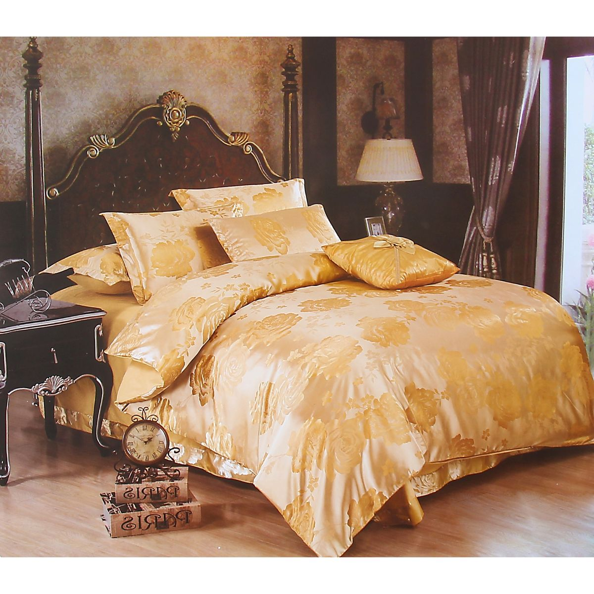 Комплект белья Этель Комильфо, евро, наволочки 50x70, цвет: бежевый, золотистыйK100Комплект постельного белья Этель Комильфо состоит из пододеяльника на молнии, простыни и двух наволочек. Удивительной красоты вышивка, нанесенная на белье, сочетает в себе нежность и теплоту.Постельное белье Этель Комильфо создано для романтичных натур, которые любят изысканный дизайн. Белье изготовлено из 100% хлопка и тканного жаккарда отвечающего всем необходимым нормативным стандартам.Жаккард - это ткань фактурного плетения, в которой нити очень плотно переплетены и образуют узорчатый рельеф. Это очень практичный материал, неприхотливый в уходе, более долговечный, по сравнению с другими тканями, полученными одним из простых способов плетения.Приобретая комплект постельного белья Этель Комильфо, вы можете быть уверенны в том, что покупка доставит вам ивашим близким удовольствие и подарит максимальный комфорт.