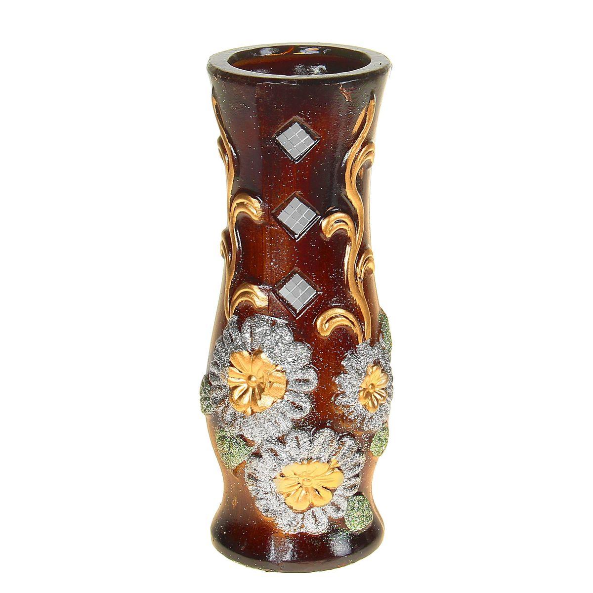 Ваза керамика 30 см цветочки ромбы (3 вида) 1044979FS-91909Керамика