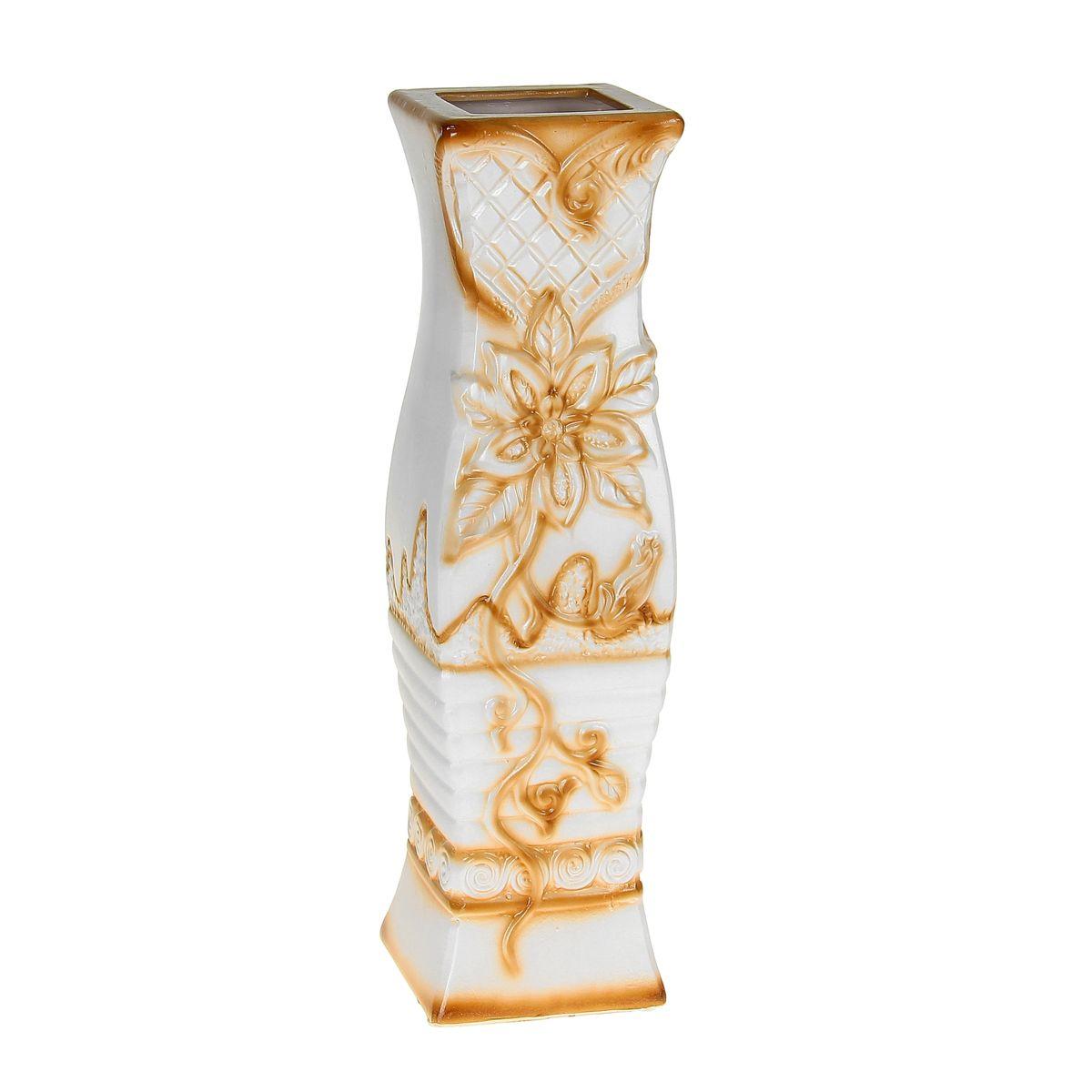 Ваза Цветущая лилия, напольная, высота 60 см. 1044984 ваза керамика напольная 60 см цветущая лилия 1044984