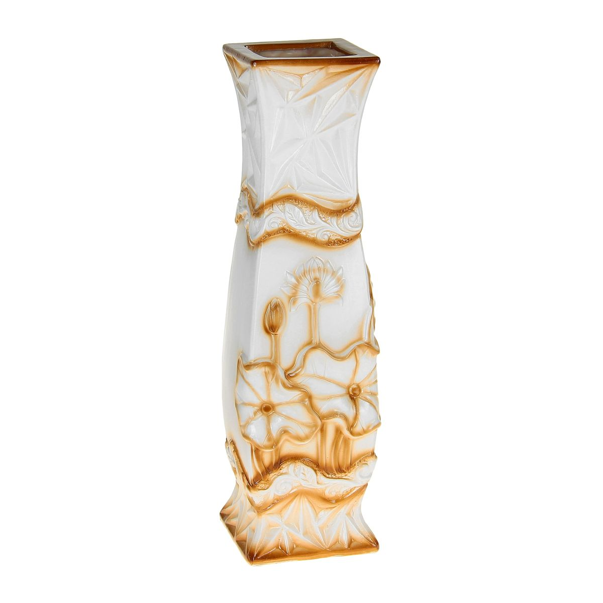 Ваза напольная Sima-land Лотос, высота 60 см36617Напольная ваза Sima-land Лотос, выполненная из керамики, станет изысканным украшением интерьера. Она предназначена как для живых, так и для искусственных цветов. Интересная форма и необычное оформление сделают эту вазу замечательным украшением интерьера. Любое помещение выглядит незавершенным без правильно расположенных предметов интерьера. Они помогают создать уют, расставить акценты, подчеркнуть достоинства или скрыть недостатки.