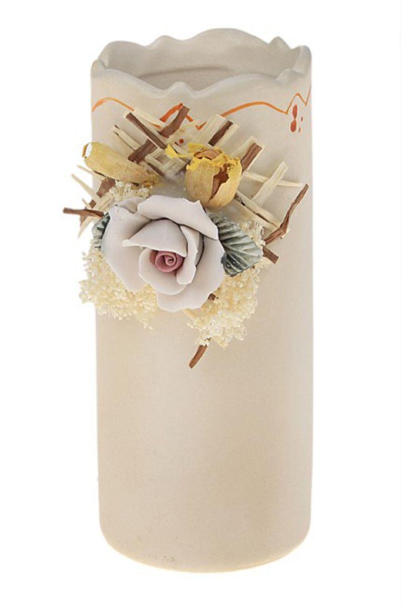 Ваза Sima-land Катерина, высота 12,5 смFS-91909Ваза Sima-land Катерина изготовлена из высококачественной керамики. Оригинальная форма и необычное оформление сделают эту вазу замечательным украшением интерьера. Вазадекорирована объемным цветком и засушенными веточками растений. Любое помещение выглядит незавершенным без правильно расположенных предметовинтерьера. Они помогают создать уют, расставить акценты, подчеркнуть достоинства или скрытьнедостатки.