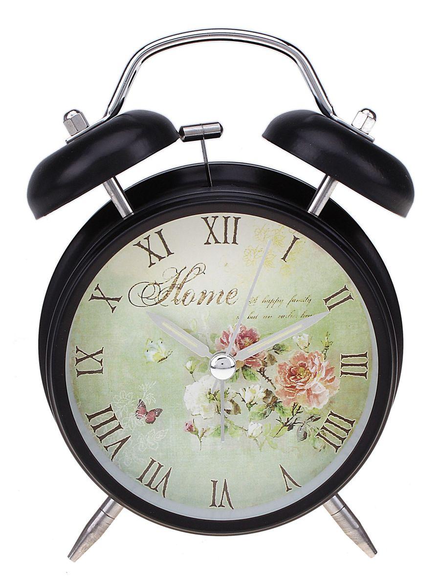Часы-будильник Sima-land. 556719MRC 4119 P schwarzКак же сложно иногда вставать вовремя! Всегда так хочется поспать еще хотя бы 5 минут и бывает, что мы просыпаем. Теперь этого не случится! Яркий, оригинальный будильник Sima-land поможет вам всегда вставать в нужное время и успевать везде и всюду. Время показывает точно и будит в установленный час. Будильник украсит вашу комнату и приведет в восхищение друзей. На задней панели будильника расположены переключатель включения/выключения механизма и два колесика для настройки текущего времени и времени звонка будильника. Также будильник оснащен кнопкой, при нажатии и удержании которой, подсвечивается циферблат.Будильник работает от 1 батарейки типа AA напряжением 1,5V (не входит в комплект).