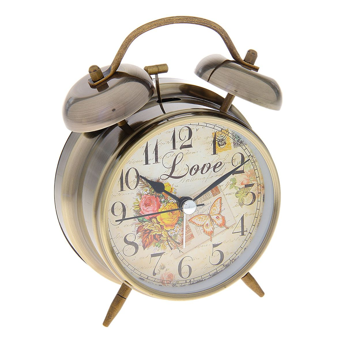Часы-будильник Sima-land. 720859179036Как же сложно иногда вставать вовремя! Всегда так хочется поспать еще хотя бы 5 минут и бывает, что мы просыпаем. Теперь этого не случится! Яркий, оригинальный будильник Sima-land поможет вам всегда вставать в нужное время и успевать везде и всюду. Время показывает точно и будит в установленный час. Будильник украсит вашу комнату и приведет в восхищение друзей. На задней панели будильника расположены переключатель включения/выключения механизма и два колесика для настройки текущего времени и времени звонка будильника. Также будильник оснащен кнопкой, при нажатии и удержании которой, подсвечивается циферблат.Будильник работает от 2 батареек типа AA напряжением 1,5V (не входят в комплект).