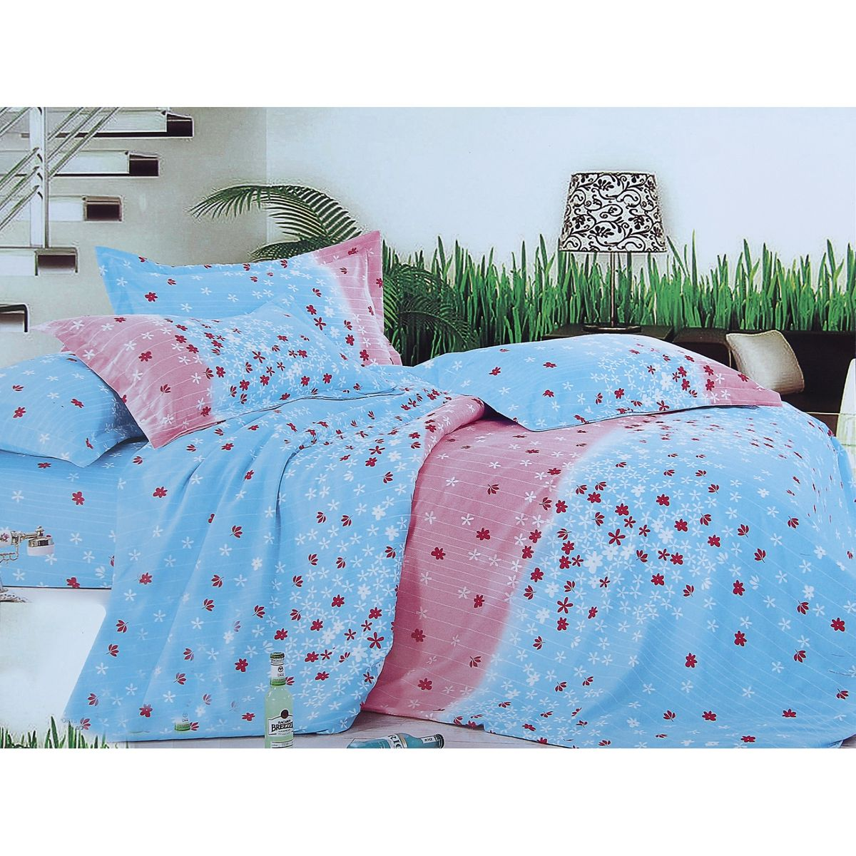 Комплект белья Этель Нежность, семейный, наволочки 70x70, цвет: голубой, розовый391602Комплект постельного белья Этель Нежность состоит из двух пододеяльников на молнии, простыни и двух наволочек без ушек. Удивительной красоты цветочный рисунок сочетает в себе нежность и теплоту. Постельное белье Этель создано для романтичных натур, которые любят изысканный дизайн. Белье изготовлено из поликоттона, отвечающего всем необходимым нормативным стандартам. Поликоттон - это ткань из экологически чистых материалов (50% хлопка, 50% полиэстера). Неоспоримым плюсом белья из такой ткани является мягкость и легкость, оно прекрасно пропускает воздух, приятно на ощупь, не образует катышков на поверхности и за ним легко ухаживать. При соблюдении рекомендаций по уходу это белье выдерживает много стирок, не линяет и не теряет свою первоначальную прочность. Уникальная ткань обеспечивает легкую глажку.Приобретая комплект постельного белья Этель Нежность, вы можете быть уверены в том, что покупка доставит вам и вашим близким удовольствие и подарит максимальный комфорт.