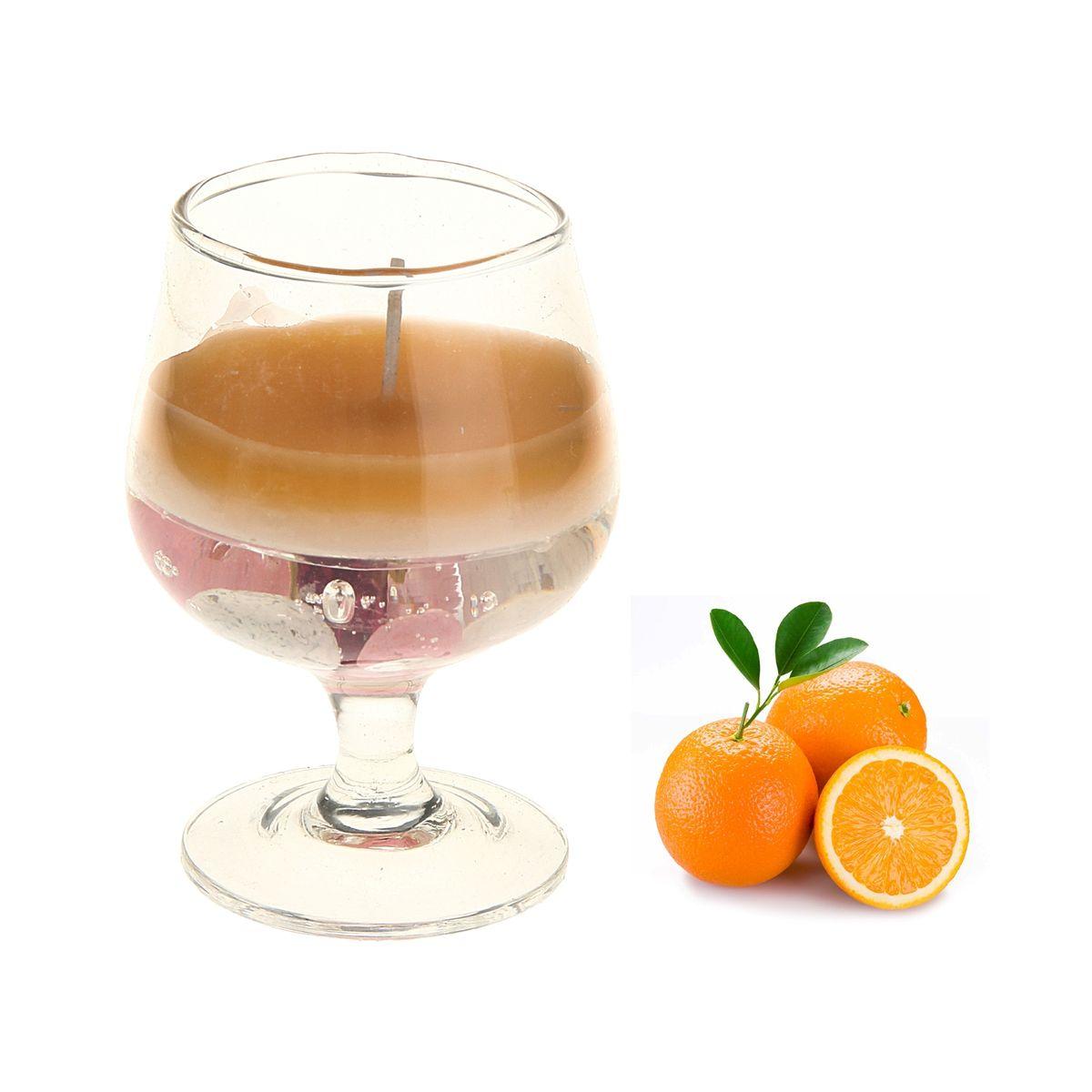 Свеча ароматизированная Sima-land Апельсин, высота 8 см907667Ароматизированная свеча Sima-land Апельсин изготовлена из воска и геля и поставляется в стеклянном бокале. Изделие отличается оригинальным дизайном и приятным ароматом. Такая свеча может стать отличным подарком или дополнить интерьер вашей комнаты.Диаметр по верхнему краю: 4,5 см.
