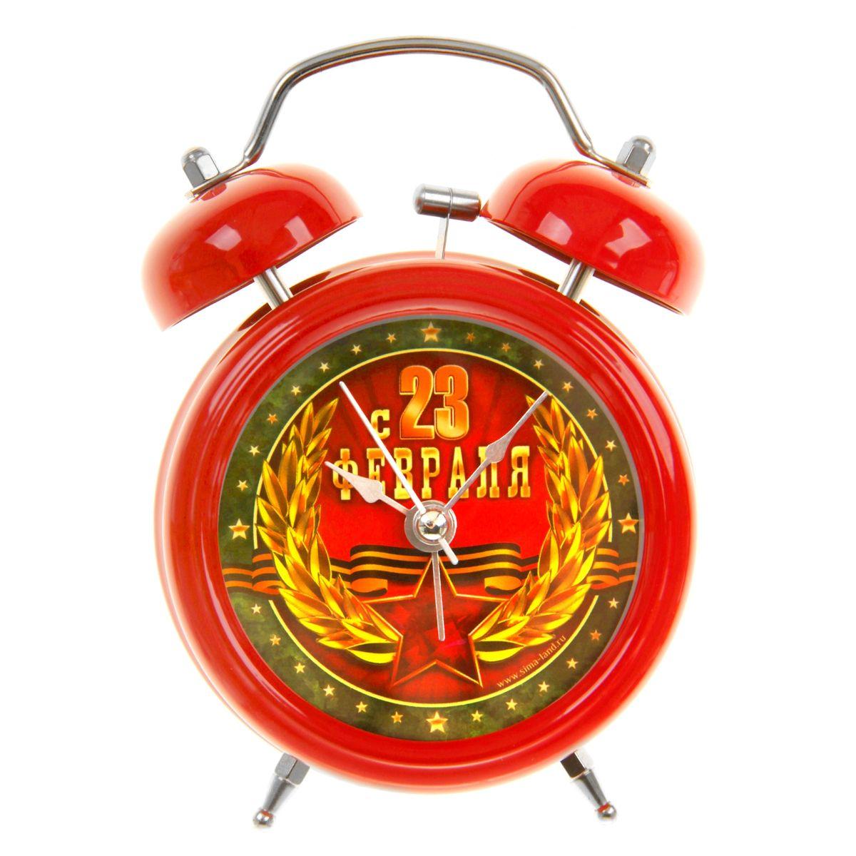 Часы-будильник Sima-land С 23 февраля. 83967315117058Как же сложно иногда вставать вовремя! Всегда так хочется поспать еще хотя бы 5 минут и бывает, что мы просыпаем. Теперь этого не случится! Яркий, оригинальный будильник Sima-land С 23 февраля поможет вам всегда вставать в нужное время и успевать везде и всюду. Время показывает точно и будит в установленный час. Такой будильник станет прекрасным подарком.На задней панели будильника расположены переключатель включения/выключения механизма, а также два колесика для настройки текущего времени и времени звонка будильника. Также будильник оснащен кнопкой, при нажатии и удержании которой, подсвечивается циферблат. Будильник работает от 1 батарейки типа AA напряжением 1,5V (не входит в комплект).