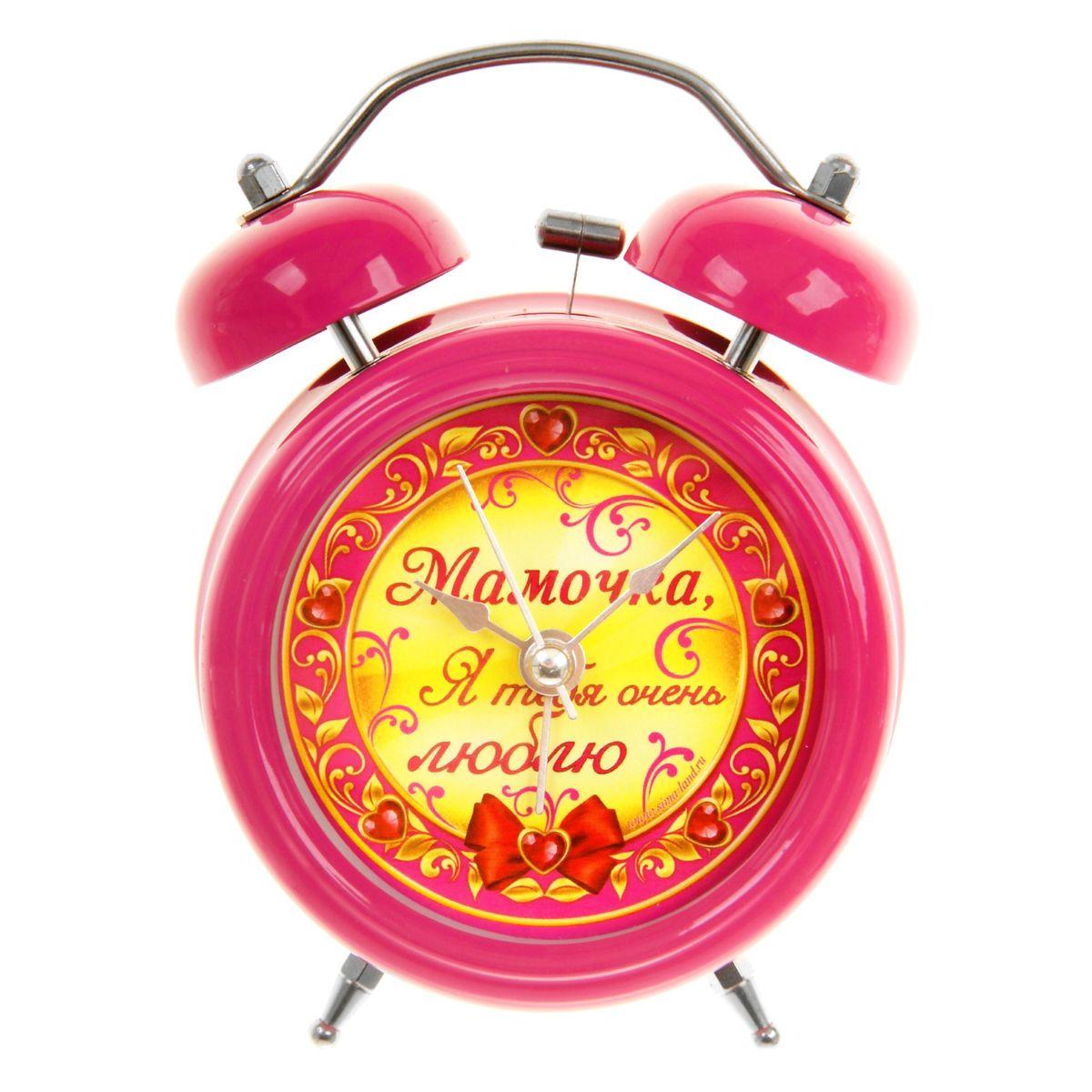 Часы-будильник Sima-land Мамочка, я тебя люблю699321Как же сложно иногда вставать вовремя! Всегда так хочется поспать еще хотя бы 5 минут и бывает, что мы просыпаем. Теперь этого не случится! Яркий, оригинальный будильник Sima-land Мамочка, я тебя люблю поможет вам всегда вставать в нужное время и успевать везде и всюду. Будильник украсит вашу комнату и приведет в восхищение друзей. Время показывает точно и будит в установленный час.На задней панели будильника расположены переключатель включения/выключения механизма, а также два колесика для настройки текущего времени и времени звонка будильника. Также будильник оснащен кнопкой, при нажатии и удержании которой, подсвечивается циферблат. Будильник работает от 1 батарейки типа AA напряжением 1,5V (не входит в комплект).