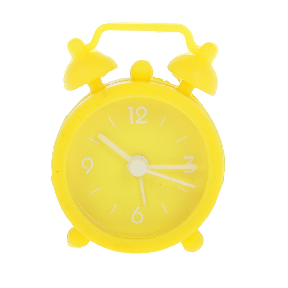 Часы-будильник Sima-land, цвет: желтый. 840941VT-3521(ВК)Как же сложно иногда вставать вовремя! Всегда так хочется поспать еще хотя бы 5 минут и бывает, что мы просыпаем. Теперь этого не случится! Яркий, оригинальный будильник Sima-land поможет вам всегда вставать в нужное время и успевать везде и всюду. Будильник украсит вашу комнату и приведет в восхищение друзей. Эта уменьшенная версия привычного будильника умещается на ладони и работает так же громко, как и привычные аналоги. Время показывает точно и будит в установленный час. Благодаря мягкому силиконовому корпусу изделие не получит повреждений даже при падении. На задней панели будильника расположены переключатель включения/выключения механизма, а также два колесика для настройки текущего времени и времени звонка будильника.Будильник работает от 1 батарейки типа LR44 (входит в комплект).