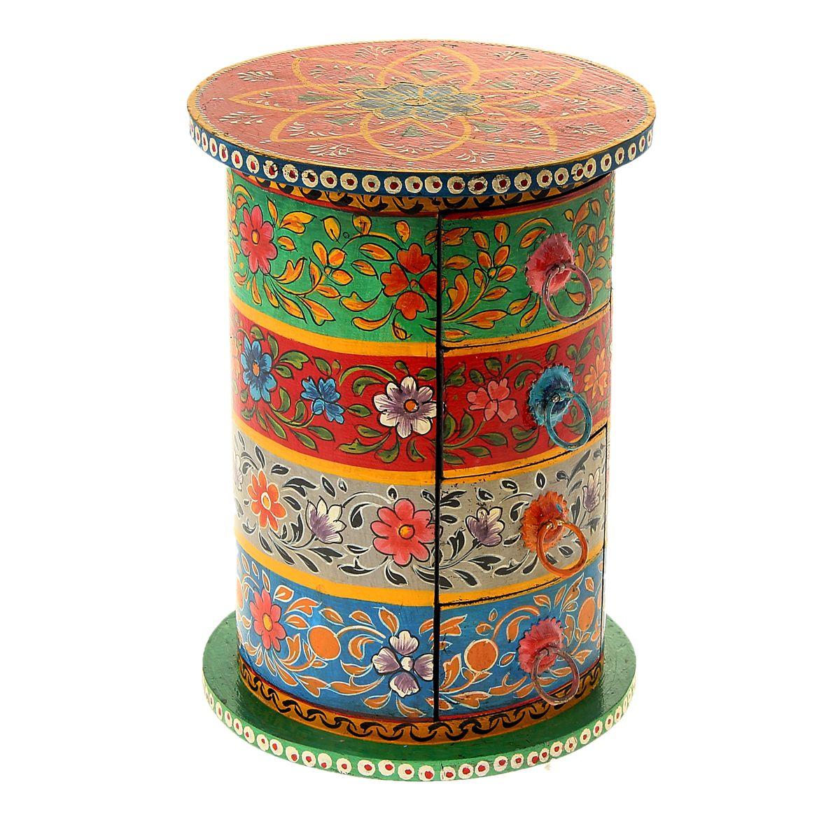 Шкатулка Sima-land Цветочные круги, 19,5 см х 19,5 см х 27 см612284Шкатулка Sima-land Цветочные круги, изготовленная из МДФ, оформлена рисунками цветов. Изделие имеет 4 выдвижных ящичка.Едва бросив взгляд на такую эффектную шкатулку, женщина наверняка уже будет знать, что в нее можно положить любимые украшения, которые хочется бережно хранить, или, к примеру, бисер и бусины, из которых она любит мастерить настоящие миниатюрные шедевры. Шкатулка с ящиками Sima-land Цветочные круги станет удобным местом для хранения мелочей и настоящей изюминкой интерьера, привносящей в него колорит далеких и манящих стран.Размер ящичка: 14 см х 9,5 см х 5,5 см.