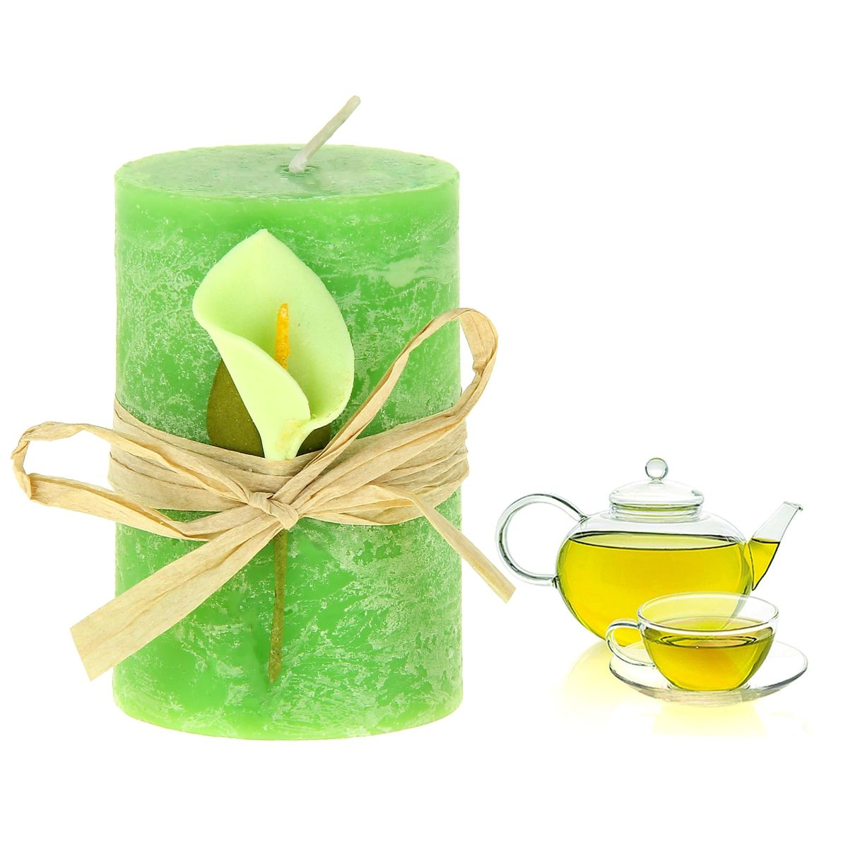 Свеча ароматизированная Sima-land Зеленый чай, высота 7 см