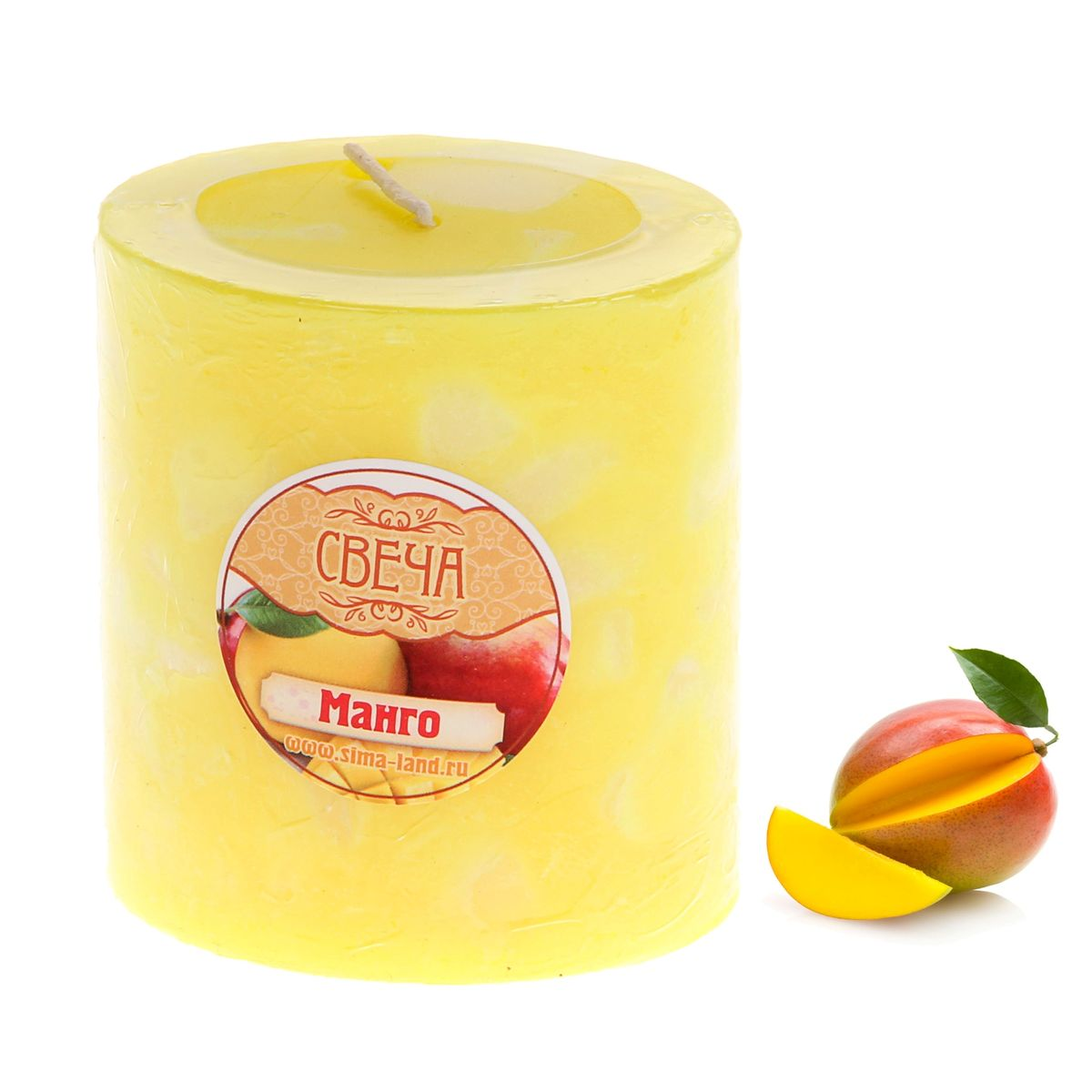 Свеча ароматизированная Sima-land Слияние, с ароматом манго, цвет: желтый, белый, высота 7 смRG-D31SАроматизированная свеча Sima-land Слияние изготовлена из воска. Изделие отличается оригинальным дизайном и приятным ароматом манго.Свеча Sima-land Слияние - это прекрасный выбор для тех, кто хочет сделать запоминающийся презент родным и близким. Она поможет создать атмосферу праздника. Такой подарок запомнится надолго.