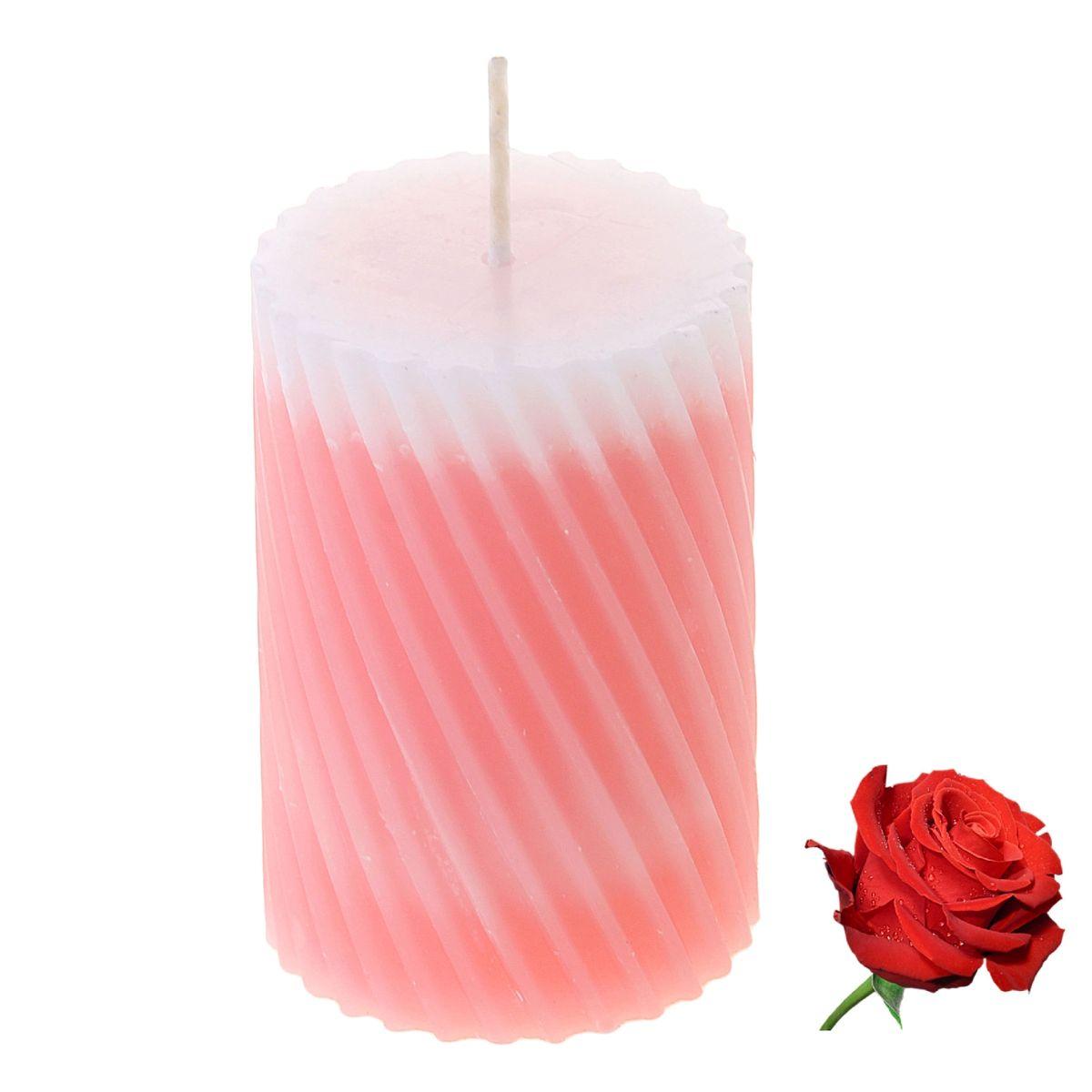 Свеча ароматизированная Sima-land Роза, высота 7,5 см. 84954041619Свеча Sima-land Роза выполнена из воска и оформлена резным рельефом. Свеча порадует ярким дизайном и нежным ароматом розы, который понравится как женщинам, так и мужчинам. Создайте для себя и своих близких незабываемую атмосферу праздника в доме. Ароматическая свеча Sima-land Роза раскрасит серые будни яркими красками.