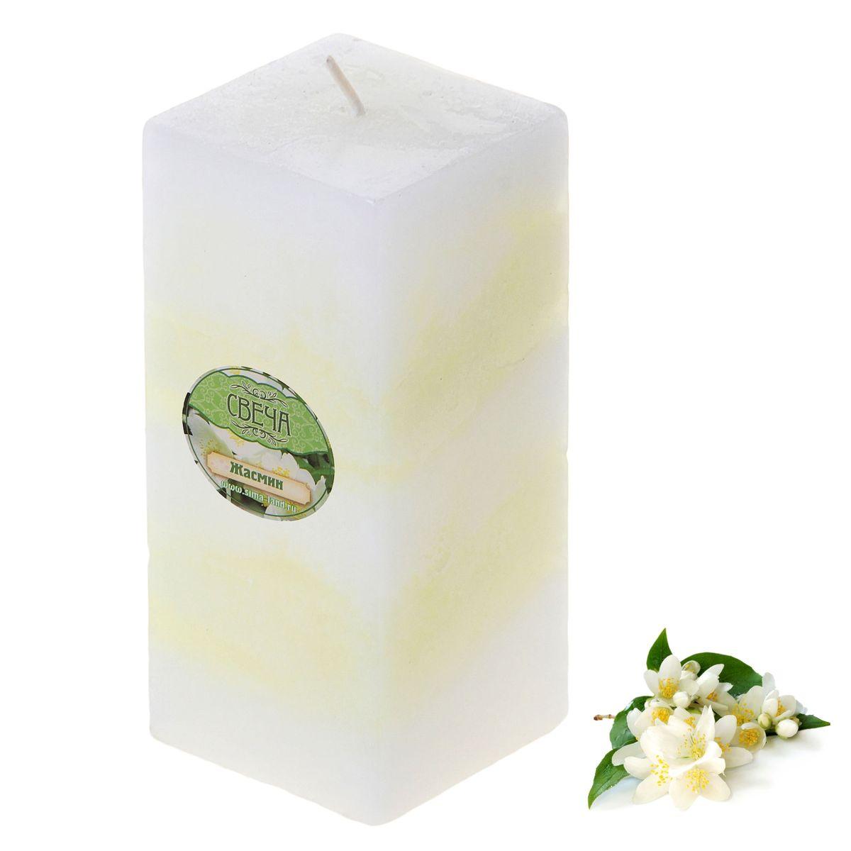 Свеча ароматизированная Sima-land Жасмин, высота 10 см свеча ароматизированная sima land апельсин высота 10 см