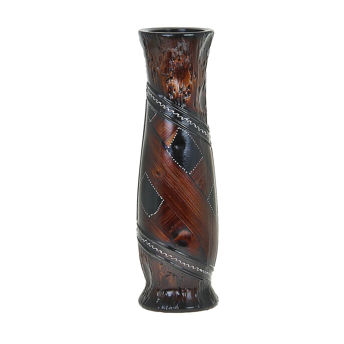 Ваза напольная Вставка, цвет: коричневый, высота 60 см. 851267FS-80299Керамика