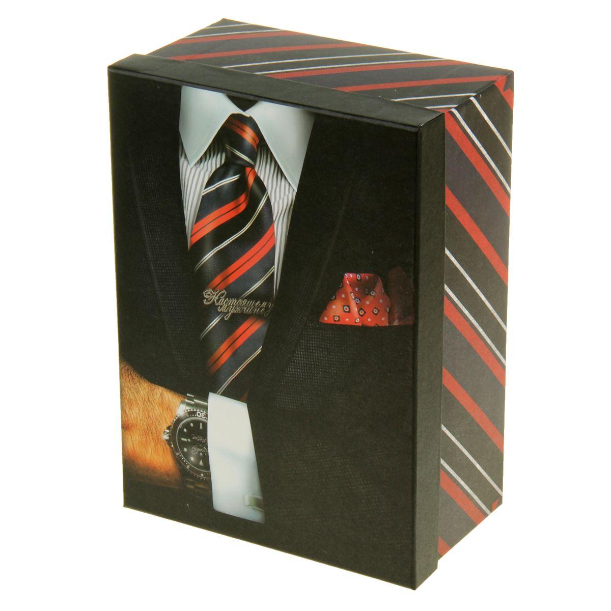 Коробка подарочная Sima-land Мужчина с часами, 25 х 18 х 11 см09840-20.000.00Коробкаподарочная Sima-land Мужчина с часы выполнена из плотного картона. Крышка оформлена ярким изображением часов и надписью Настоящему мужчине.Подарочная коробка - это наилучшее решение, если вы хотите порадовать вашихблизких и создать праздничное настроение, ведь подарок, преподнесенный воригинальной упаковке, всегда будет самым эффектным и запоминающимся.Окружите близких людей вниманием и заботой, вручив презент в нарядном,праздничном оформлении.