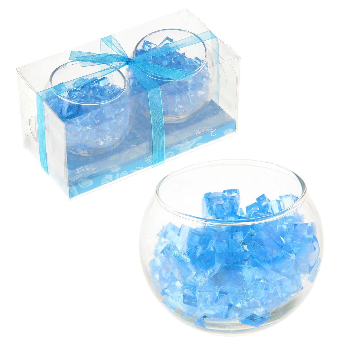 Набор свечей Sima-land Мармелад, цвет: голубой, 2 шт12723Набор Sima-land Мармелад, выполненный из геля, состоит из двух декоративных свечей. Свечи расположены в стеклянных бокалах. Изделия порадуют вас своим дизайном. Такой набор может стать отличным подарком или дополнить интерьер вашей комнаты.