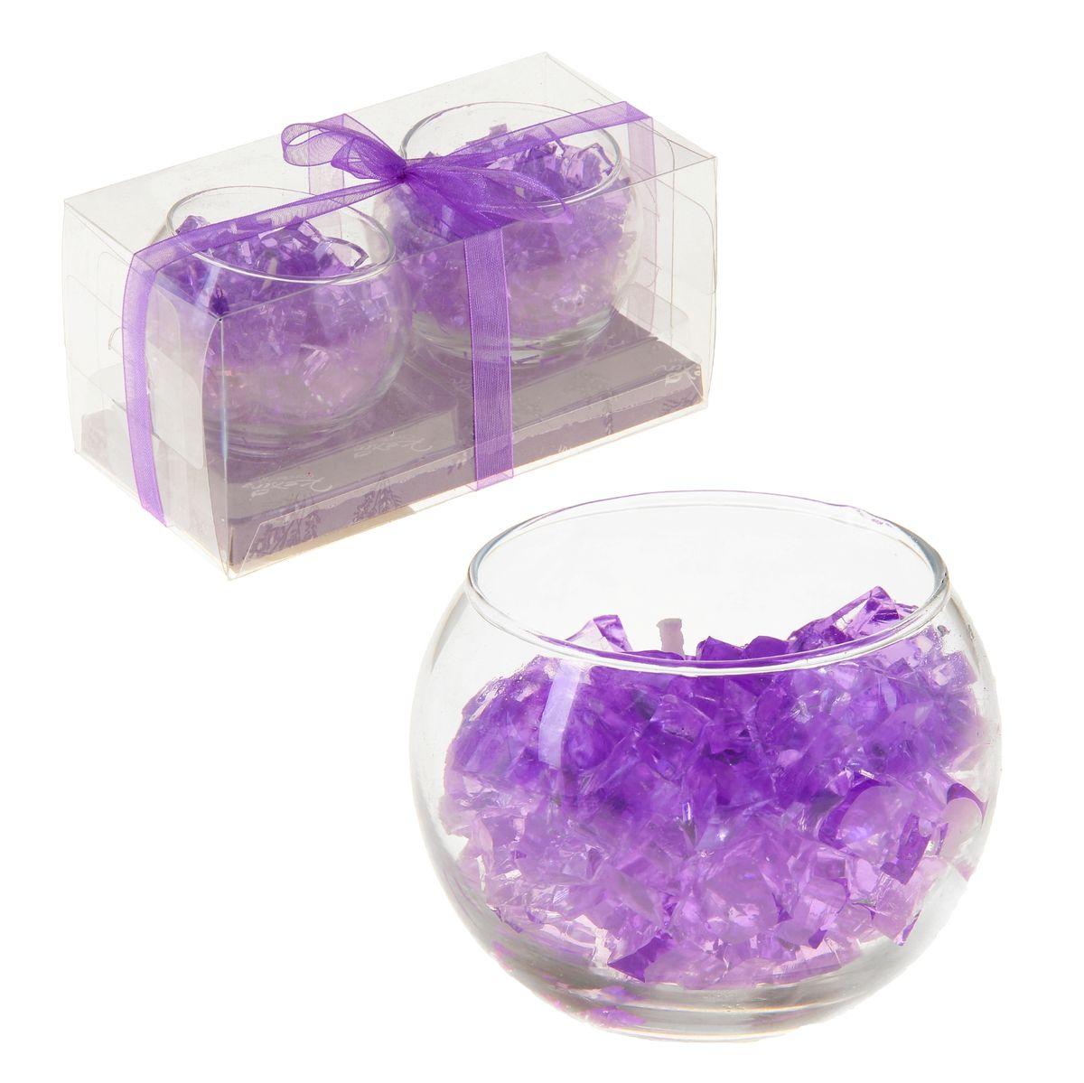 Набор свечей Sima-land Мармелад, цвет: фиолетовый, 2 штU210DFНабор Sima-land Мармелад, выполненный из геля, состоит из двух декоративных свечей. Свечи расположены в стеклянных бокалах. Изделия порадуют вас своим дизайном. Такой набор может стать отличным подарком или дополнить интерьер вашей комнаты.
