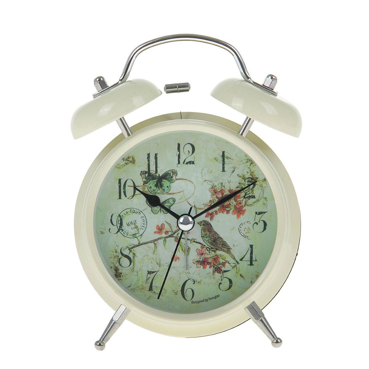 Часы-будильник Sima-land. 906603840843Как же сложно иногда вставать вовремя! Всегда так хочется поспать еще хотя бы 5 минут и бывает, что мы просыпаем. Теперь этого не случится! Яркий, оригинальный будильник Sima-land поможет вам всегда вставать в нужное время и успевать везде и всюду. Время показывает точно и будит в установленный час. Будильник украсит вашу комнату и приведет в восхищение друзей. На задней панели будильника расположены переключатель включения/выключения механизма и два колесика для настройки текущего времени и времени звонка будильника. Также будильник оснащен кнопкой, при нажатии и удержании которой, подсвечивается циферблат.Будильник работает от 2 батареек типа AA напряжением 1,5V (не входят в комплект).