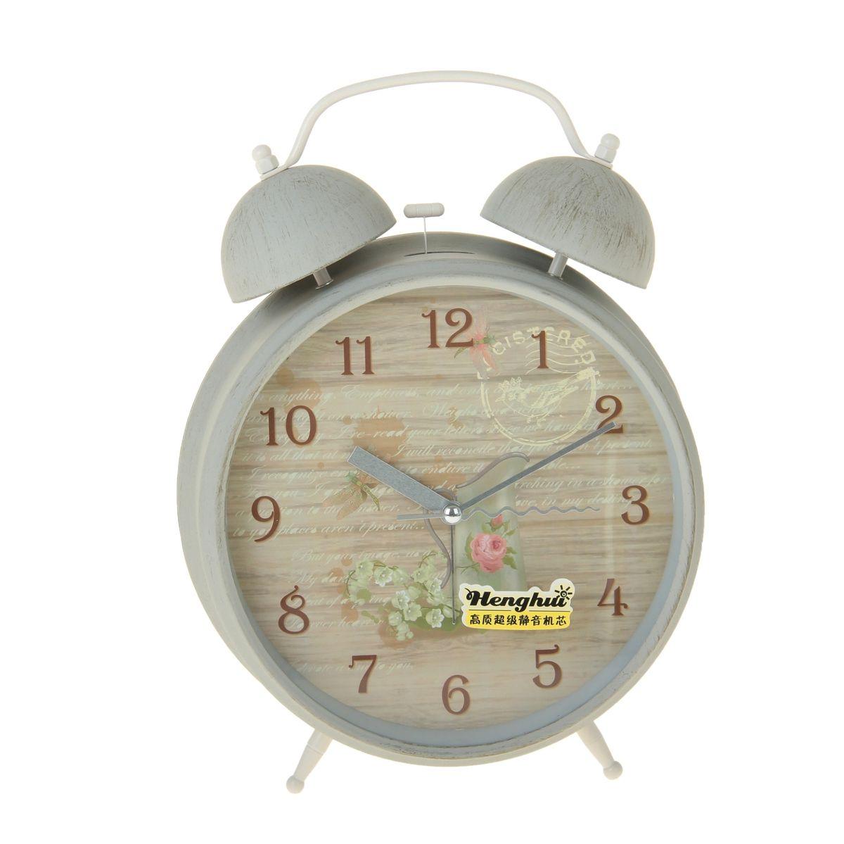 Часы-будильник Sima-land Кувшин и цветы15118419Как же сложно иногда вставать вовремя! Всегда так хочется поспать еще хотя бы 5 минут и бывает, что мы просыпаем. Теперь этого не случится! Яркий, оригинальный будильник Sima-land Кувшин и цветы поможет вам всегда вставать в нужное время и успевать везде и всюду.Корпус будильника выполнен из металла. Циферблат имеет индикацию арабскими цифрами. Часы снабжены 4 стрелками (секундная, минутная, часовая и для будильника). На задней панели будильника расположен переключатель включения/выключения механизма, а также два колесика для настройки текущего времени и времени звонка будильника. Также будильник оснащен кнопкой, при нажатии которой подсвечивается циферблат.Пользоваться будильником очень легко: нужно всего лишь поставить батарейку, настроить точное время и установить время звонка. Необходимо докупить 1 батарейку типа АА (не входит в комплект).