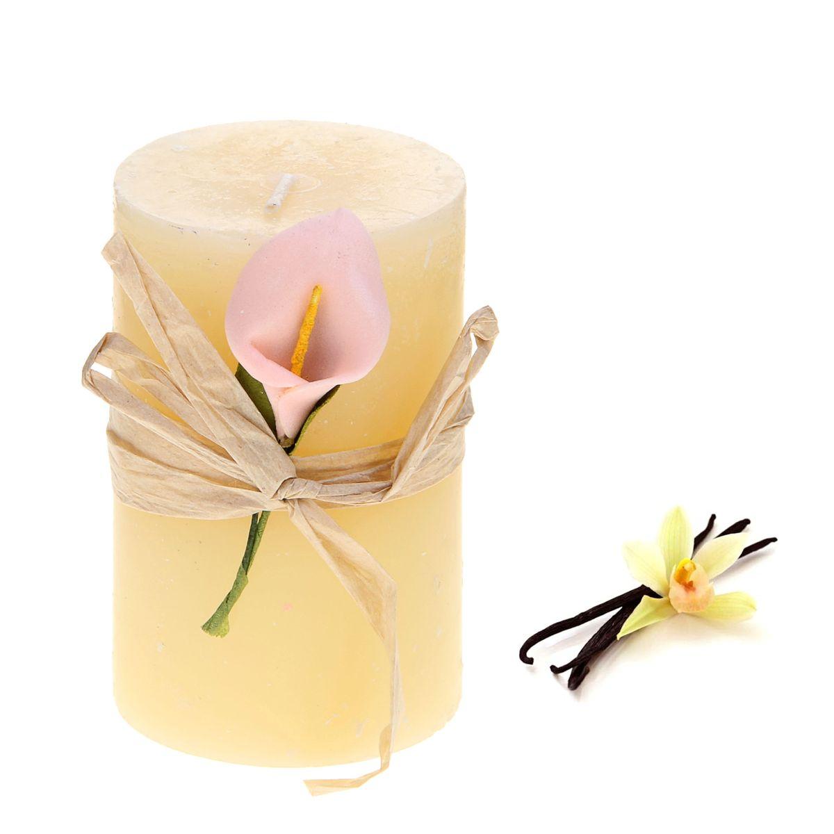 Свеча ароматизированная Sima-land Ваниль, высота 7 см849530Ароматизированная свеча Sima-land Ваниль изготовлена из воска и оформлена декоративным цветком. Изделие отличается оригинальным дизайном и приятным ароматом ванили. Такая свеча может стать отличным подарком или дополнить интерьер вашей комнаты.