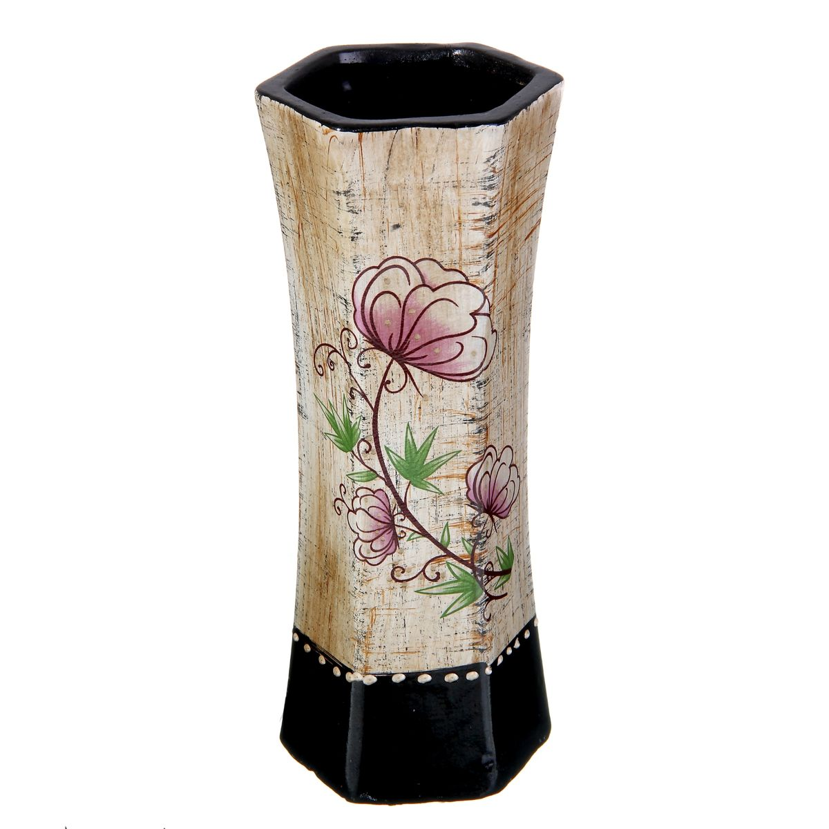 Ваза Sima-land Цветочная, высота 24 см588897Элегантная ваза Sima-land Цветочная, изготовленная из высококачественной керамики, оформлена в благородных древесных оттенках с ярким рисунком. Интересная форма и необычное оформление сделают эту вазу замечательным украшением интерьера. Она предназначена как для живых, так и для искусственных цветов. Любое помещение выглядит незавершенным без правильно расположенных предметов интерьера. Они помогают создать уют, расставить акценты, подчеркнуть достоинства или скрыть недостатки.
