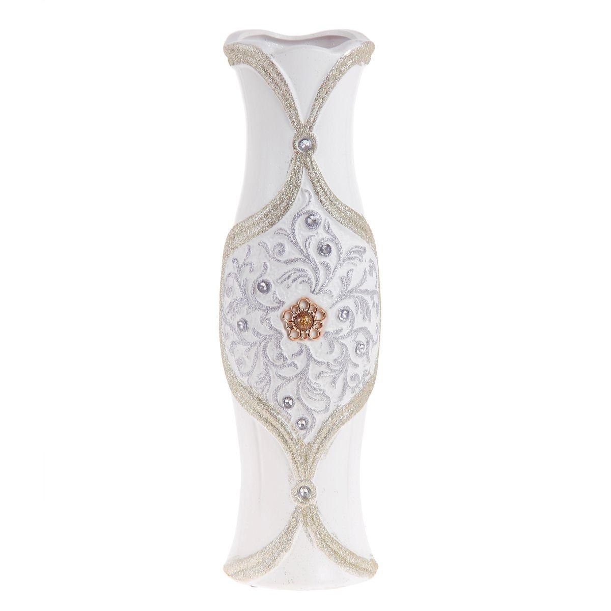 Ваза напольная Sima-land Янтарная брошка, высота 60 см. 91352498298123_черныйНапольная ваза Sima-land Янтарная брошка, выполненная из керамики, станет изысканным украшением интерьера. Она предназначена как для живых, так и для искусственных цветов. Изделие декорировано блестками и стразами. Интересная форма и необычное оформление сделают эту вазу замечательным украшением интерьера. Любое помещение выглядит незавершенным без правильно расположенных предметов интерьера. Они помогают создать уют, расставить акценты, подчеркнуть достоинства или скрыть недостатки.