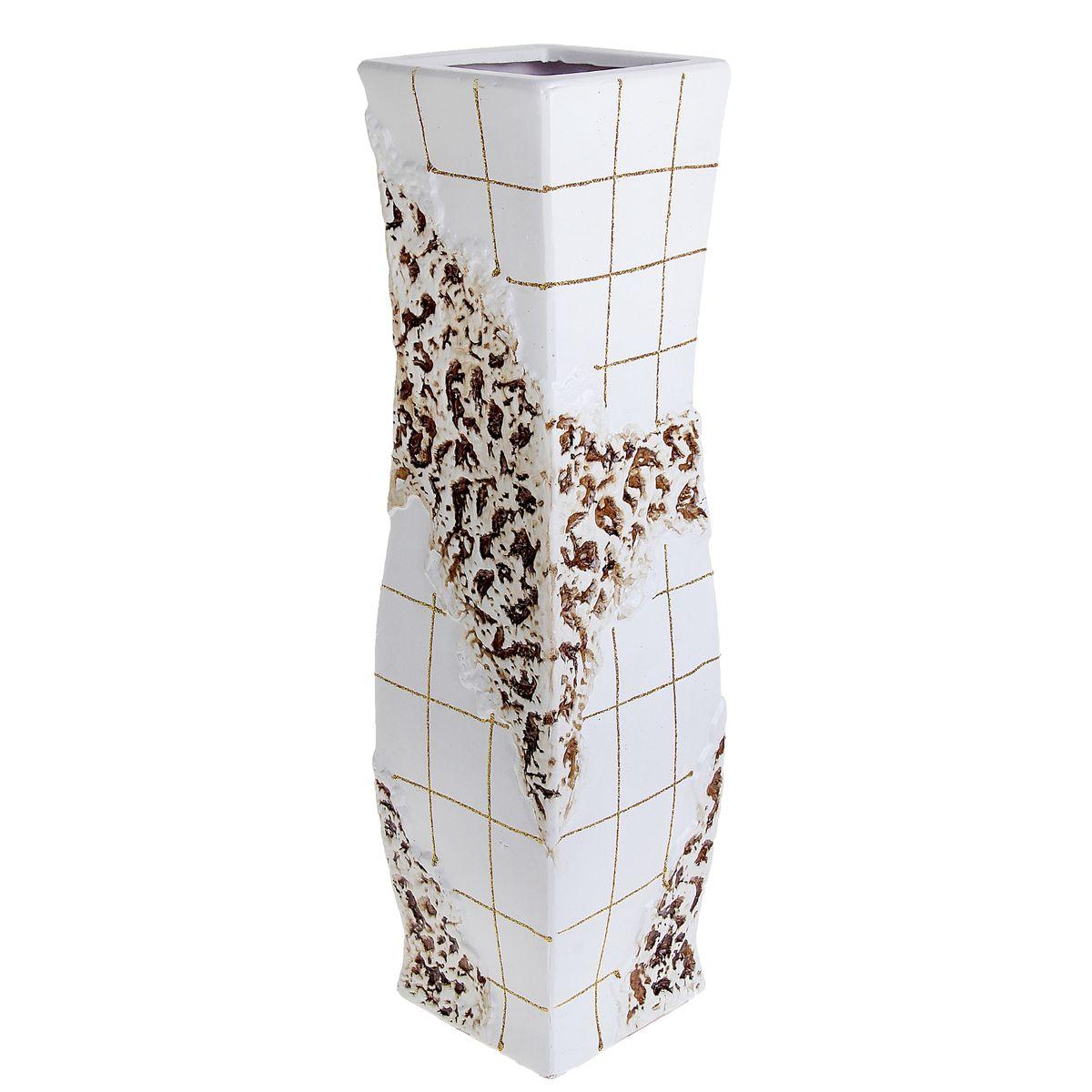 Ваза напольная Цветочная плитка, цвет: белый, высота 60 см. 9135496271DWAEВаза напольная Цветочная плитка, выполненная из керамики, украсит интерьер вашего дома или офиса. Оригинальный дизайн и красочное исполнение создадут праздничное настроение. Вы можете поставить вазу в любом месте, где она будет удачно смотреться, и радовать глаз. Такая ваза подойдет и для цветов, и для декора интерьера. Кроме того - это отличный вариант подарка для ваших близких и друзей.