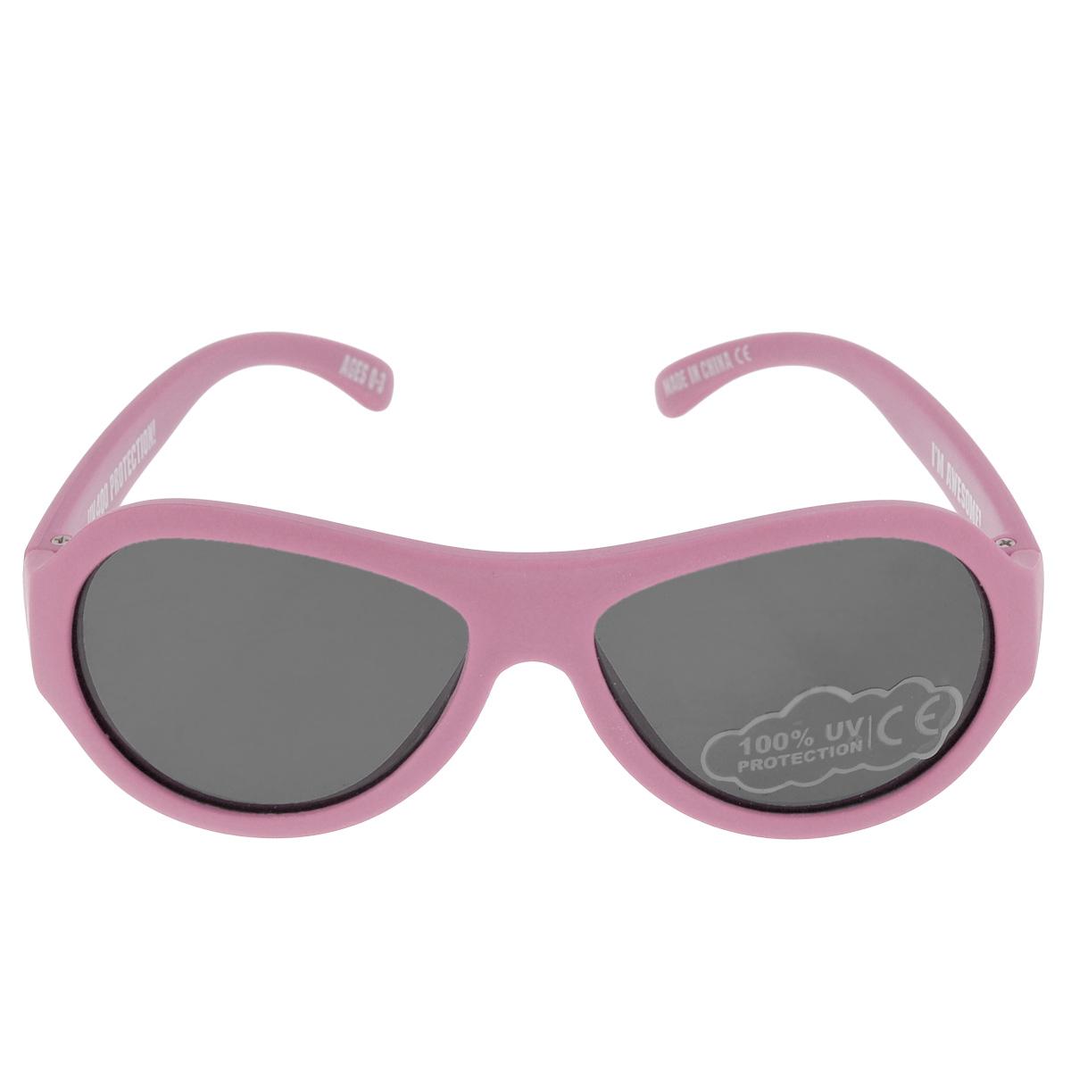 Детские солнцезащитные очки Babiators Принцесса (Princess), цвет: розовый, 0-3 летBM8434-58AEВы делаете все возможное, чтобы ваши дети были здоровы и в безопасности. Шлемы для езды на велосипеде, солнцезащитный крем для прогулок на солнце... Но как насчёт влияния солнца на глаза вашего ребёнка? Правда в том, что сетчатка глаза у детей развивается вместе с самим ребёнком. Это означает, что глаза малышей не могут отфильтровать УФ-излучение. Проблема понятна - детям нужна настоящая защита, чтобы глазки были в безопасности, а зрение сильным.Каждая пара солнцезащитных очков Babiators для детей обеспечивает 100% защиту от UVA и UVB. Прочные линзы высшего качества не подведут в самых сложных переделках. В отличие от обычных пластиковых очков, оправа Babiators выполнена из гибкого прорезиненного материала, что делает их ударопрочными, их можно сгибать и крутить - они не сломаются и вернутся в прежнюю форму. Не бойтесь, что ребёнок сядет на них - они всё выдержат. Будьте уверены, что очки Babiators созданы безопасными, прочными и классными, так что вы и ваш ребенок можете приступать к своим приключениям!