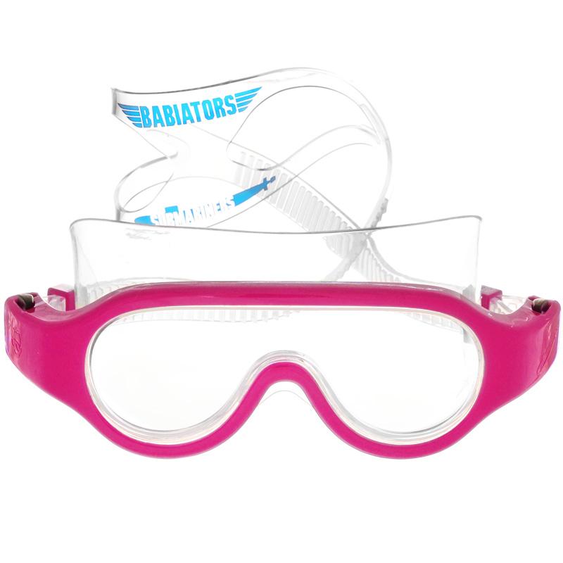 Детские очки для плавания Babiators Submariners. Popstar, цвет: розовый, 3-6 летBAB-069Стильные детские очки для плавания Babiators Submariners. Popstar будут незаменимы для ваших детей во время плавания в бассейне. Линзы очков изготовлены из ударопрочного поликарбоната со специальным покрытием антифог, которое предотвращает запотевание линз. Линзы вдобавок защитят глаза от ультрафиолета. Ремешок для головы выполнен из силикона, что обеспечит ребенку комфорт во время плавания. Длина ремешка очень просто регулируется нажатием одной кнопки, так что дети полюбят их носить, а оригинальный чехол в виде подводной лодки пригодится, чтобы брать очки с собой.Очки для плавания Babiators Submariners. Popstar выпускаются в одном размере, который подходит для большинства малышей и детей в возрасте 3-6 лет.