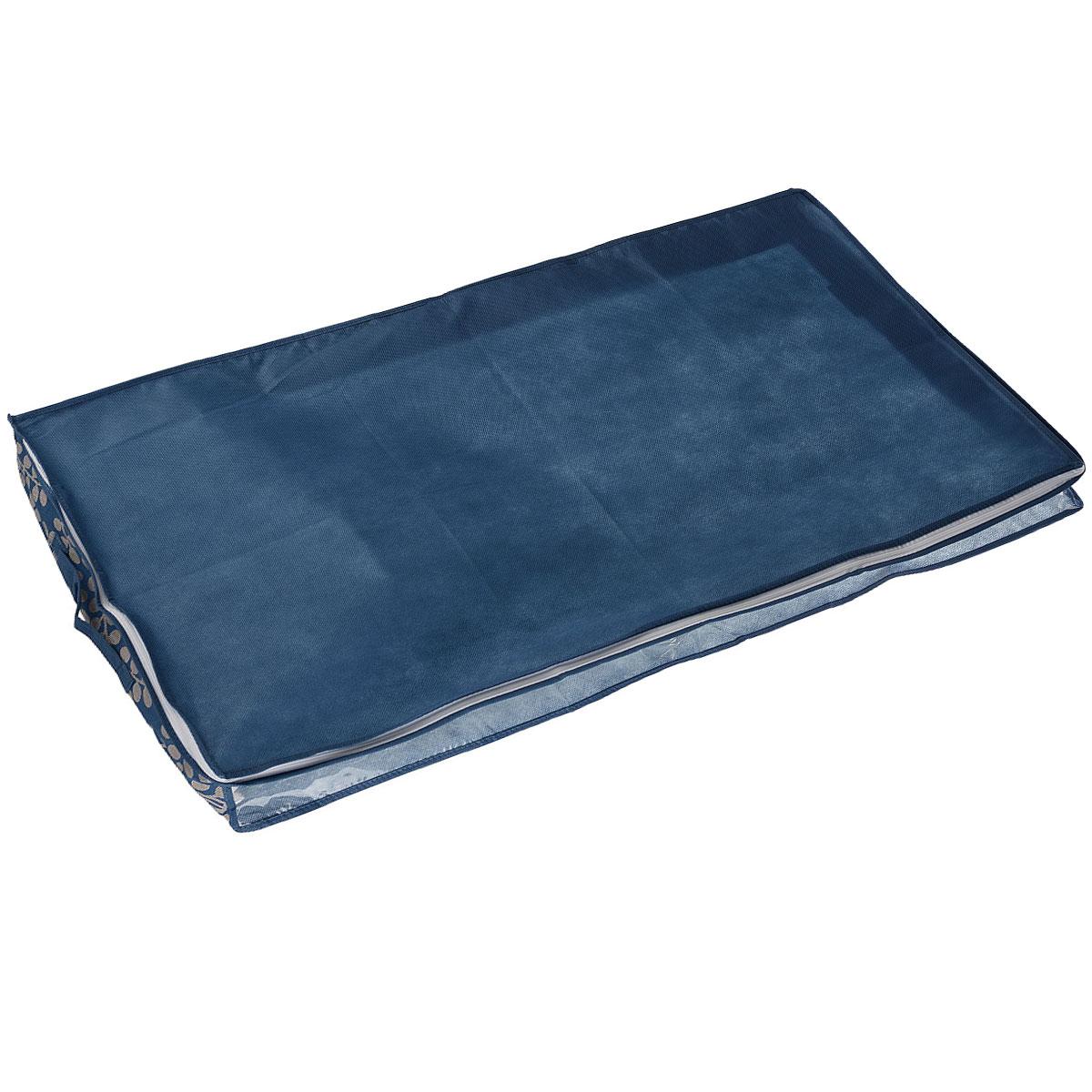 Чехол под кровать Cosatto Флораль, цвет: голубой, 100 см х 50 см х 15 см недорогие магазины одежды в нижнем новгороде