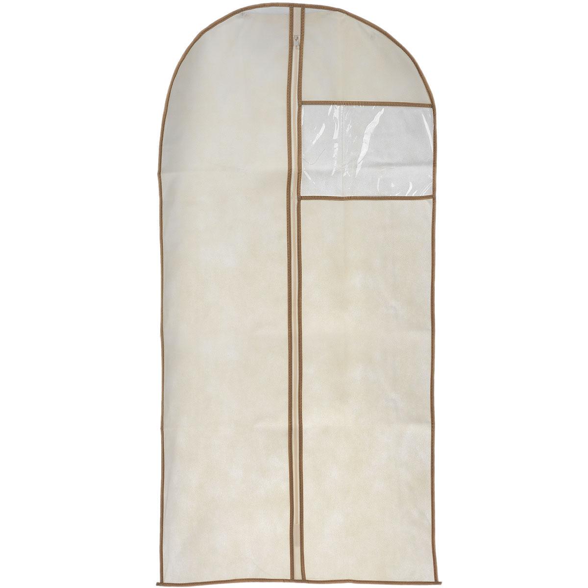Чехол для пальто Cosatto, цвет: бежевый, 137 х 60 см3331_голубойЧехол для пальто Cosatto изготовлен из дышащего нетканого материала (полипропилена), безопасного в использовании. Предназначен для хранения пальто и другой длинной верхней одежды. Имеет прозрачное окно, застежку-молнию и специальное отверстие для крючка вешалки. Материал можно протирать в случае загрязнения влажной тряпкой.