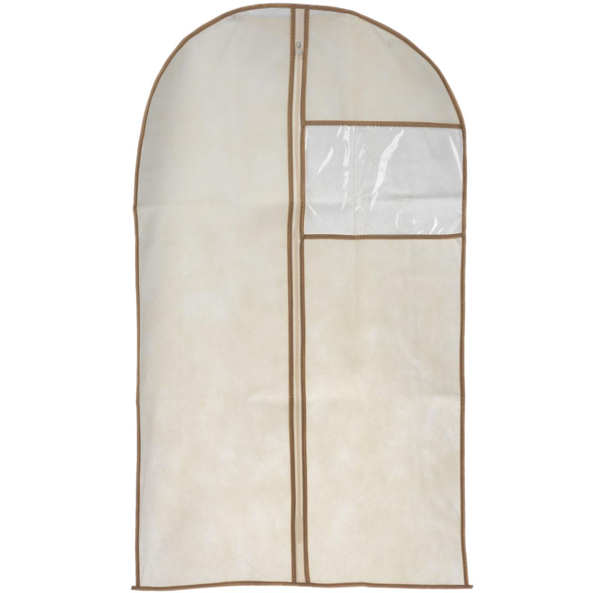 Чехол для пиджака Cosatto, цвет: бежевый, 100 см х 60 смС810_темно-синийЧехол для пиджака Cosatto изготовлен из дышащего нетканого материала (полипропилен), безопасного в использовании. Предназначен для хранения курток, пиджаков и жакетов. Имеет прозрачное окно, застежку-молнию и специальное отверстие для крючка вешалки. Материал можно протирать в случае загрязнения влажной тряпкой.