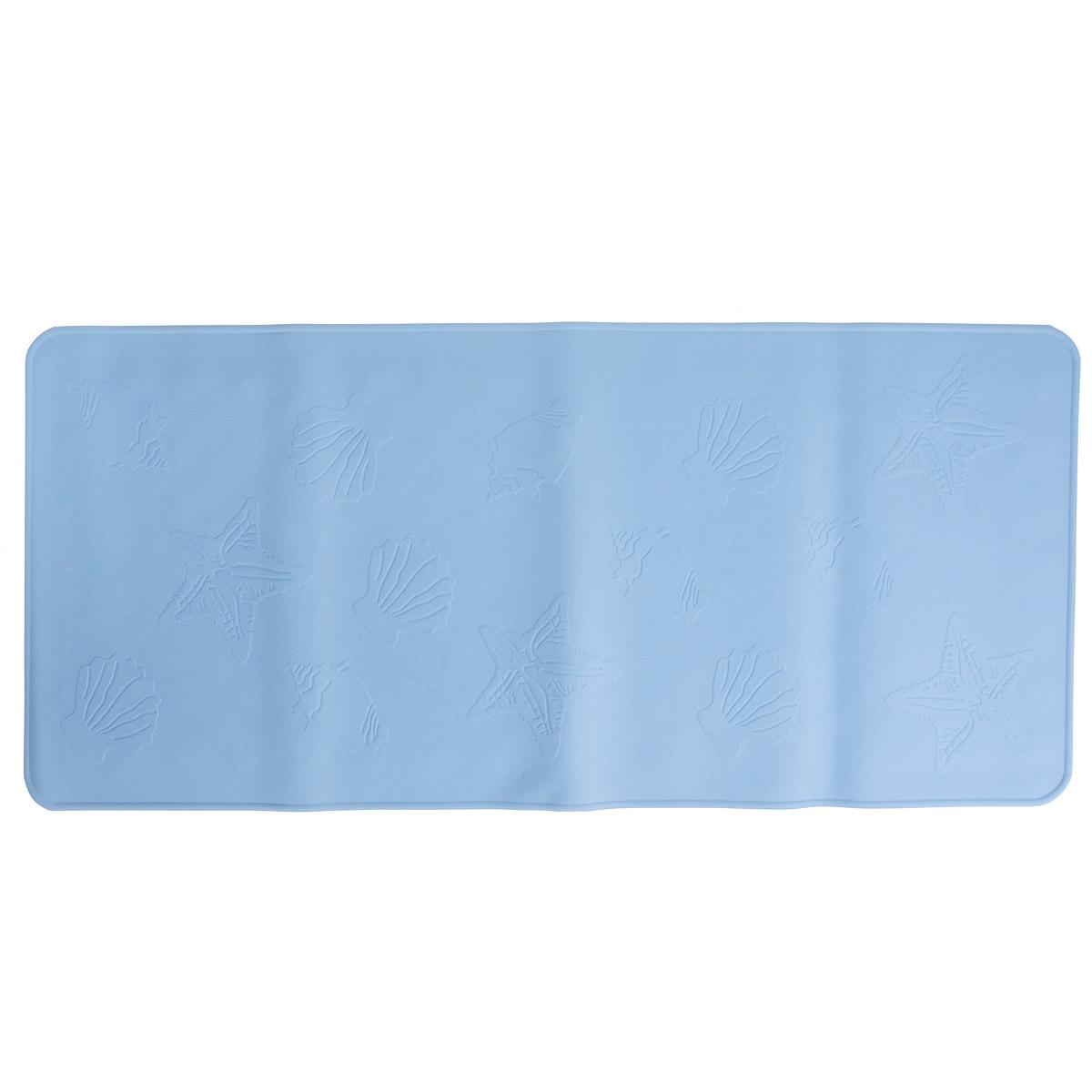 Антискользящий коврик Roxy-kids для ванны, цвет: синий, 34,5 см х 74 см68/5/3Антискользящий коврик для ванны Roxy-kids изготовлен из высококачественной натуральной мягкой резины без применения токсичного сырья и подходит для большинства детских ванночек, ванн и душевых кабин. Коврик крепится на дно ванны при помощи присосок, и предотвращает прямой контакт тела ребенка со скользким дном ванны. Покрытие коврика препятствует скольжения ног или тела ребенка. Специальные отверстия позволяют воде стекать и обеспечивают более надежное крепление к поверхности ванны. Мягкие надежные присоски препятствуют скольжению коврика в ванне. Рельефные элементы способствуют массажу.