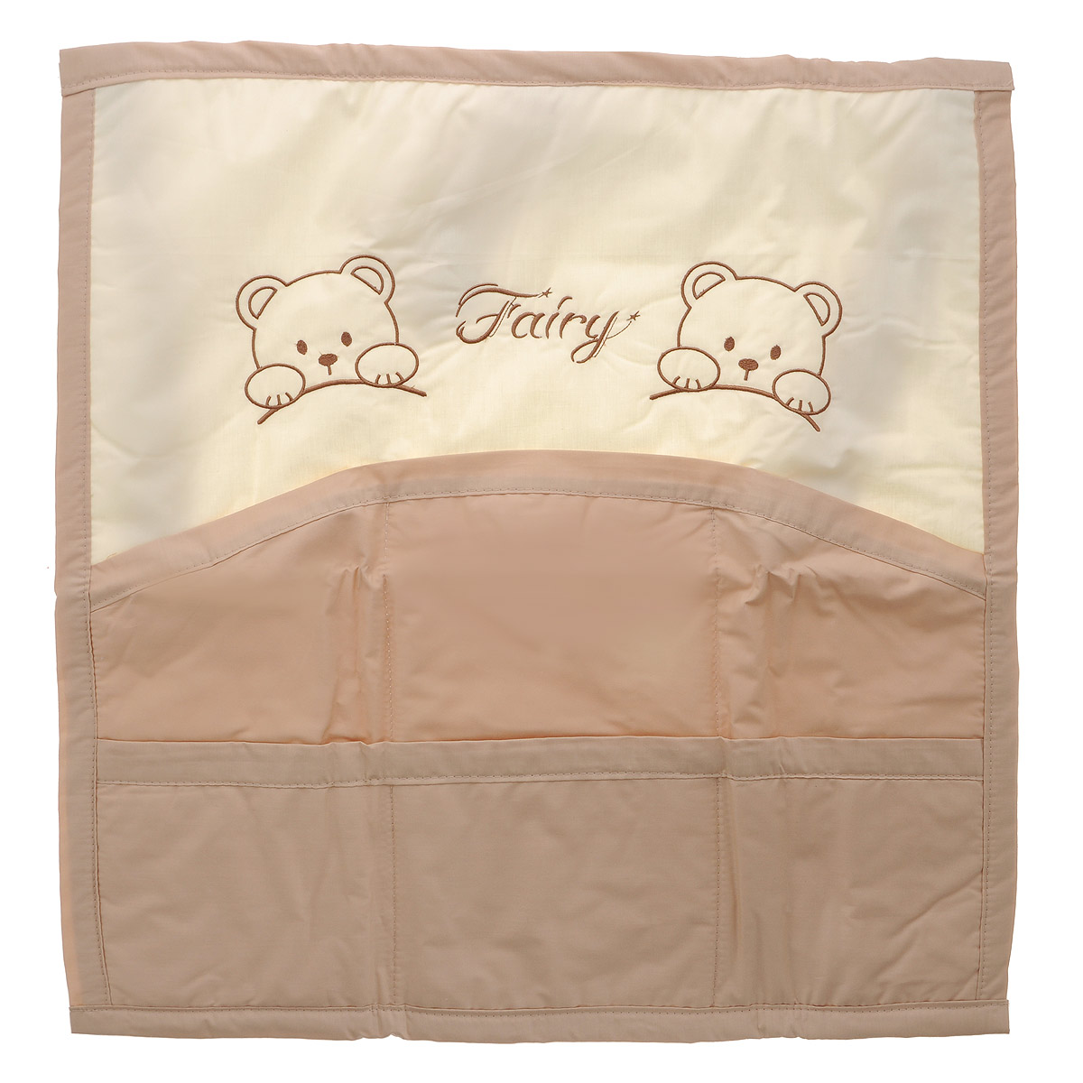 Карман на кроватку Fairy  Мишки , цвет: молочный, бежевый, 59 см х 60 см -  Бортики, бамперы
