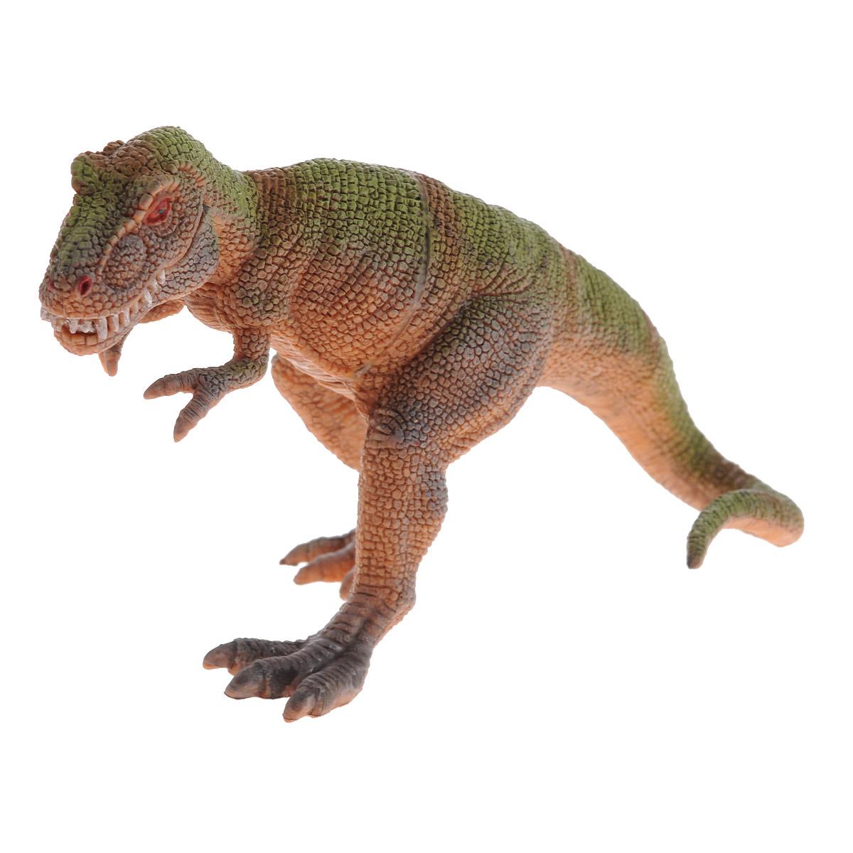 Фигурка Megasaurs Тираннозавр с двигающейся пастью, цвет: оранжевый, зеленый hgl фигурка черепаха с подсветкой цвет ярко оранжевый