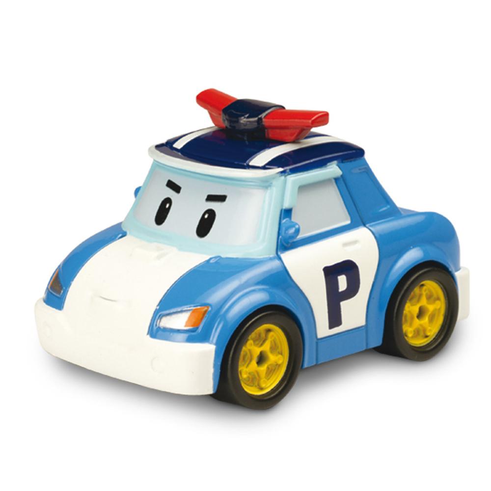 """Яркая игрушка Poli """"Поли"""" непременно понравится вашему малышу. Она выполнена из металла с элементами пластика в виде полицейской машинки Поли - главного героя популярного мультсериала """"Robocar Poli"""". Поли оснащен колесиками со свободным ходом, позволяющими катать машинку. Благодаря небольшому размеру ребенок сможет взять игрушку с собой на прогулку, в поездку или в гости. Порадуйте своего малыша таким замечательным подарком!"""