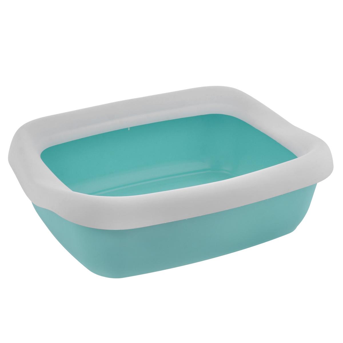 Туалет для кошек MPS Beta Maxi, с бортом, цвет: бирюзовый, белый, 49 см х 39 см х 13 см0120710Туалет для кошек MPS Beta Maxi изготовлен из качественного прочного пластика. Высокий борт, прикрепленный по периметру лотка, удобно защелкивается и предотвращает разбрасывание наполнителя. Это самый простой в употреблении предмет обихода для кошек и котов.