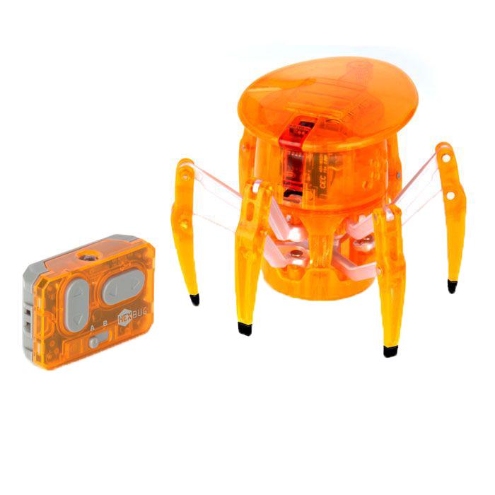 """Микро-робот Hexbug """"Spider"""" - самый крупный представитель семейства Hexbug. Может перемещаться в любую сторону, двигается изящно и быстро. Красный светодиодный глаз, расположенный на вращающейся на 360° голове микро-робота, указывает направление его движения. С помощью двухканального пульта дистанционного управления вы сможете одновременно управлять двумя роботами-пауками. Внутреннюю конструкцию микро-робота можно просматривать благодаря прозрачному корпусу из прочного пластика. Hexbug """"Spider"""" работает от 5 батареек типа AG13, три для самого микро-робота, две для пульта управления (батарейки входят в комплект). Гарантия: 15 дней."""