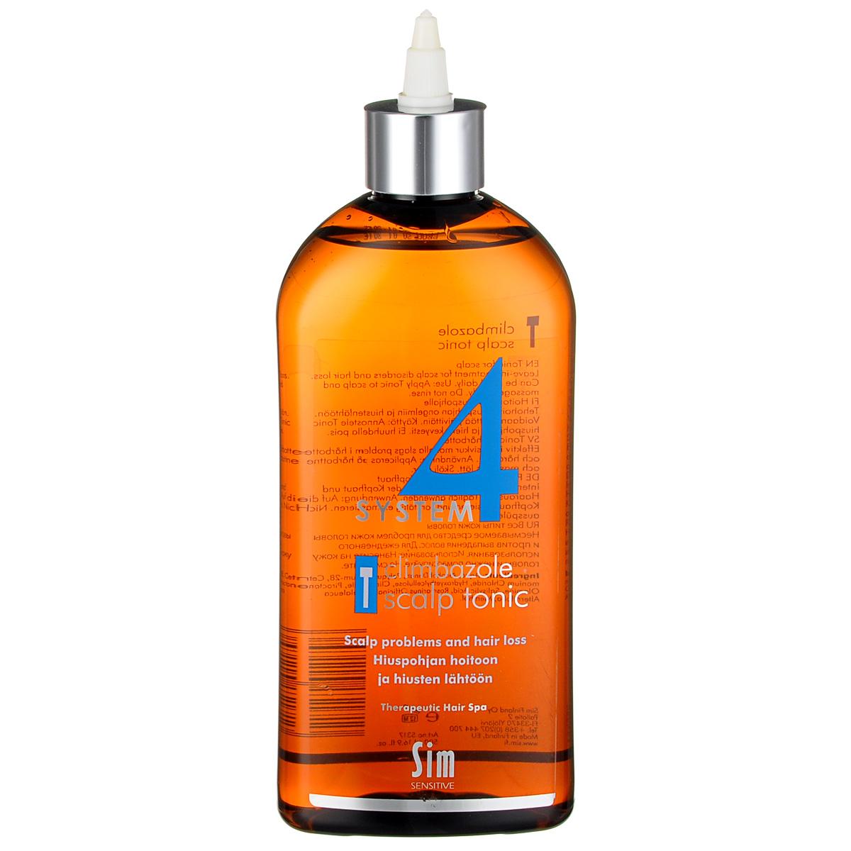 SIM SENSITIVE Терапевтический тоник Т SYSTEM 4 Climbazole Scalp Tonic «Т» , 500 мл sim sensitive терапевтический шампунь 3 system 4 mild climbazole shampoo 3 100 мл