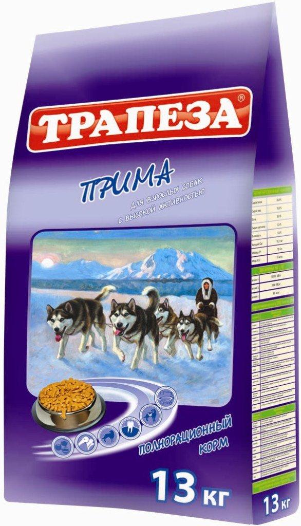 Корм сухой Трапеза Прима для активных собак, 13 кг0120710Корм разработан специально для активных собак (содержащихся в вольере, а также в суровых климатических условиях) и имеет в своей основе три источника полноценного животного протеина: мясо, рыбу и курицу.Корм ПРИМА сбалансирован по уровню содержания ненасыщенных жирных кислот ОМЕГА-6 и ОМЕГА-3, их оптимальное соотношение (5:1) достигается сочетанием говяжьего, куриного и рыбьего жира, а также введением льняного масла. Высококачественные жиры, стабилизированные витаминами Е и С способствуют образованию и поддержанию отличного шерстного покрова, повышают иммунитет, обеспечивают организм Вашей собаки необходимой энергией. ПРОТЕИН - 25%, ЖИР - 12%, ЭНЕРГИЯ - 3600 кКал.Состав: говядина, мясо домашней птицы, мясные субпродукты, злаковые культуры, животные и растительные жиры, масла, витамины, минеральные вещества, микроэлементы.