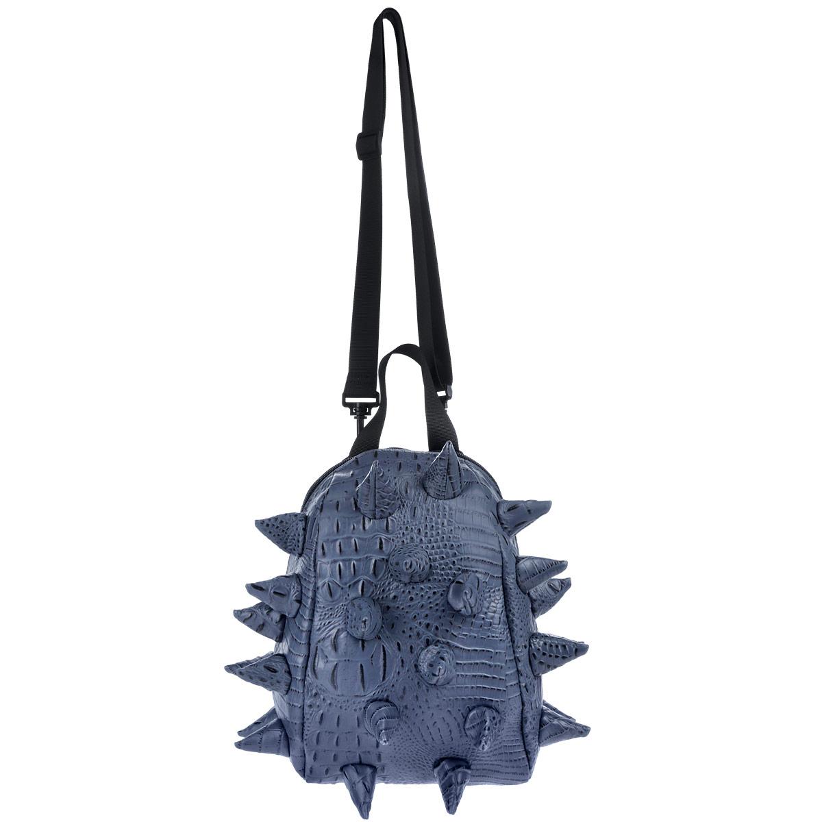 Сумка ланч-бокс MadPax Gator Nibbler, цвет: синий, 4 лCDF-16Оригинальная сумка ланч-бокс MadPax Gator Nibbler - это стильный и практичный аксессуар, который поможет сохранить вашу еду и напитки. Верх сумки выполнен из 100% поливинила с тиснением под рептилию, шипы придают изделию неповторимый дизайн. Сумка имеет одно основное отделение, которое закрывается на застежку-молнию. Внутренняя поверхность отделана специальным термоизолирующим материалом, который сохранит напитки прохладными, а домашние сэндвичи теплыми. Специальный кармашек на резинке очень удобен для напитков.Сумка имеет длинный съемный регулируемый ремень, который позволяет носить ее через плечо, и дополнительную ручку для переноски. Сзади расположен кармашек из прозрачного ПВХ для визитки. MadPax - это крутые аксессуары в стиле фанк, которые своим неповторимым дизайном бросают вызов монотонности и скуке. Эти уникальные изделия помогают детям всех возрастов самовыражаться, а их внутренняя структура с отделениями, карманами и застежками-молниями делает их невероятно практичными. Материал верха: поливинил.