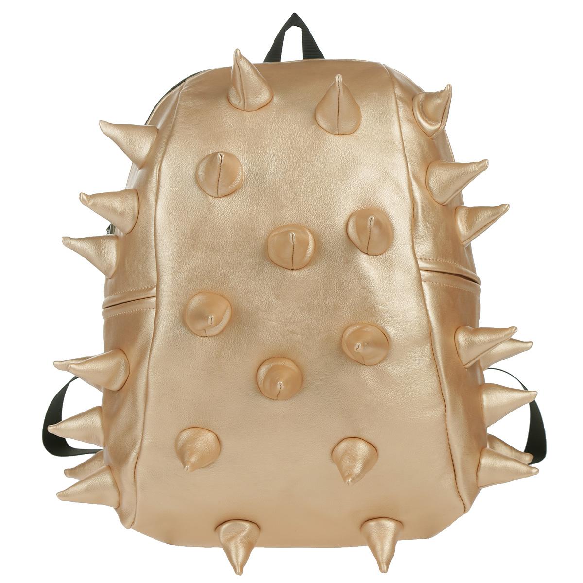 Рюкзак городской MadPax Rex Half. Heavy Metal Spike, цвет: золотистый, 16 л