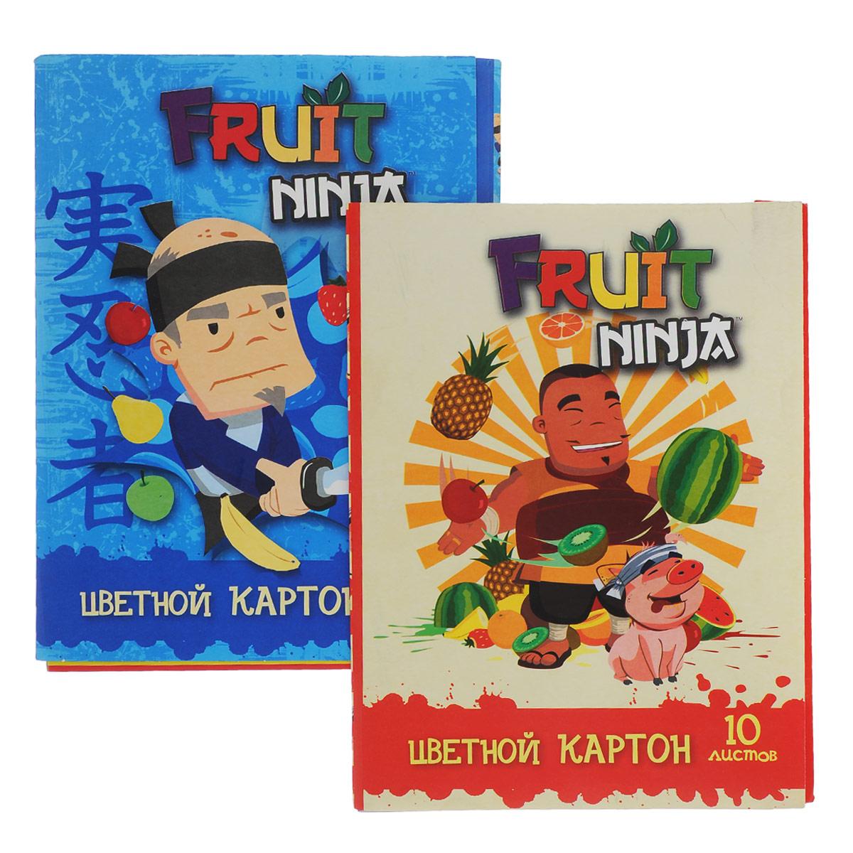 Набор цветного картона Action!: Fruit Ninja, 20 цв, формат А4 -упаковка-2дизайнаFN-CC-10/10Набор цветного картона Action!: Fruit Ninja позволит создавать всевозможные аппликации и поделки. Набор включает 20 листов одностороннего цветного картона формата А4. Цвета: желтый, красный, золотистый, серебристый, синий, коричневый, белый, оранжевый, зеленый, черный.Создание поделок из цветного картона позволяет ребенку развивать творческие способности, кроме того, это увлекательный досуг. Набор упакован в картонную папку с изображением Fruit Ninja.УВАЖАЕМЫЕ КЛИЕНТЫ! Обращаем ваше внимание на возможные изменения в дизайне, связанные с ассортиментом продукции: обложки альбомов могут отличаться от представленных на изображениях. Поставка осуществляется в зависимости от наличия на складе.