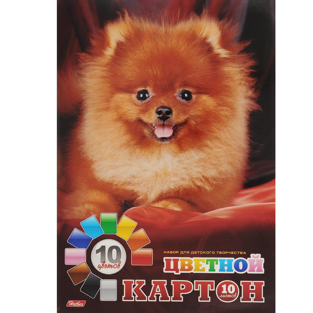 Картон цветной Hatber Пушистый щенок, 10 цв, формат А472523WDКартон цветной Hatber Пушистый щенок позволит создавать всевозможные аппликации и поделки. Набор включает 10 листов одностороннего цветного картона формата А4. Цвета: золотистый, синий, серебристый, красный, зеленый, желтый, голубой, оранжевый, коричневый, черный. Создание поделок из цветного картона позволяет ребенку развивать творческие способности, кроме того, это увлекательный досуг.