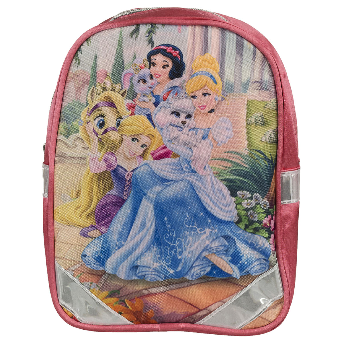 Рюкзак детский Kinderline Princess, цвет: розовый37475Рюкзак детский Kinderline Princess выполнен из износоустойчивых материалов с водонепроницаемой основой, декорирован ярким рисунком. Рюкзак имеет одно вместительное основное отделение, закрывающееся на молнию.Ранец оснащен светоотражателями, удобной ручкой для переноски и двумя широкими лямками, регулируемой длины. С модным рюкзаком Princess ваша малышка будет звездой! Стильный и продуманный до мелочей рюкзак позаботится о том, чтобы прогулки доставляли ребенку только удовольствие.